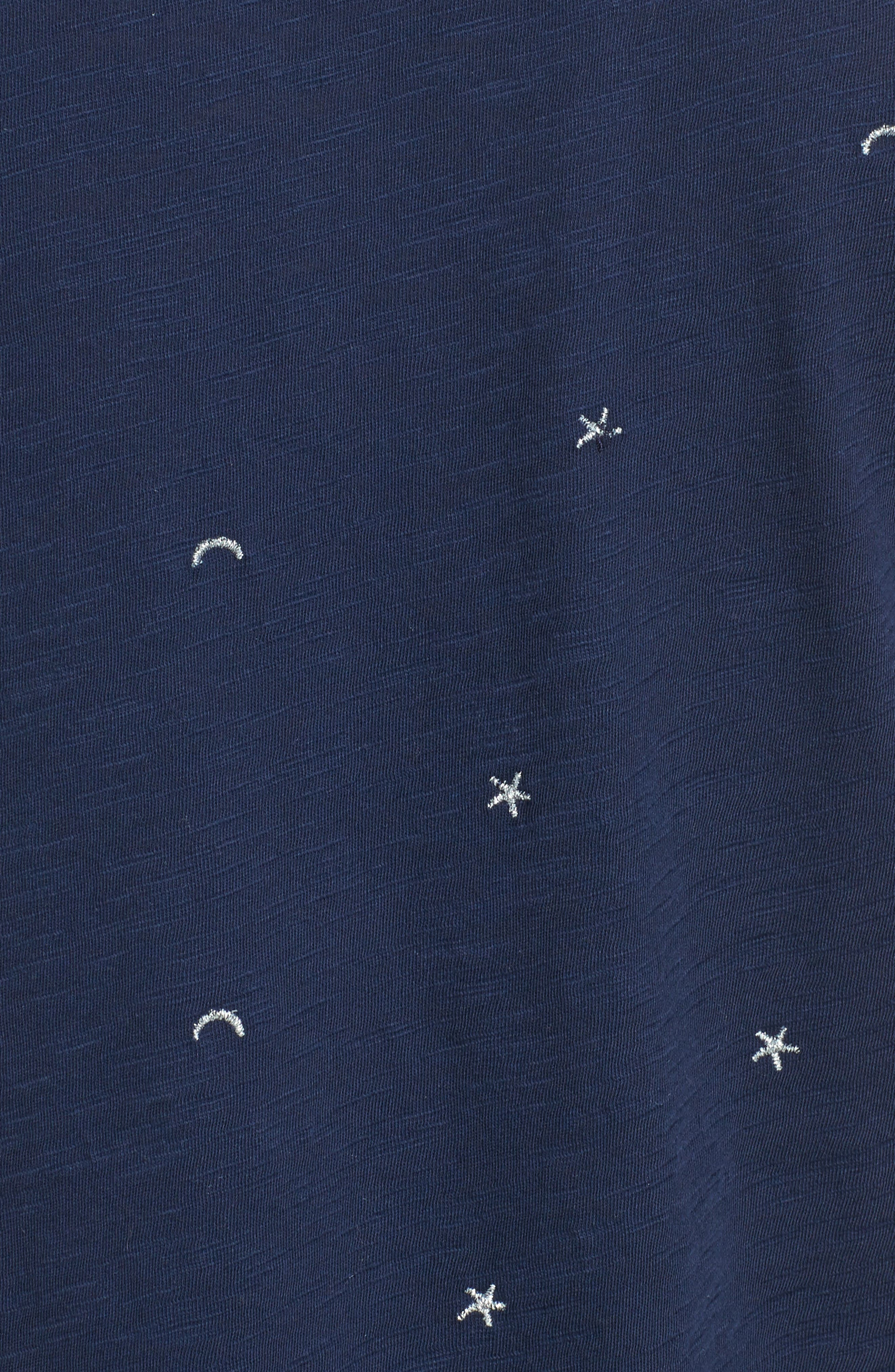 Alternate Image 5  - Lucky Brand Embroidered Crewneck Tee