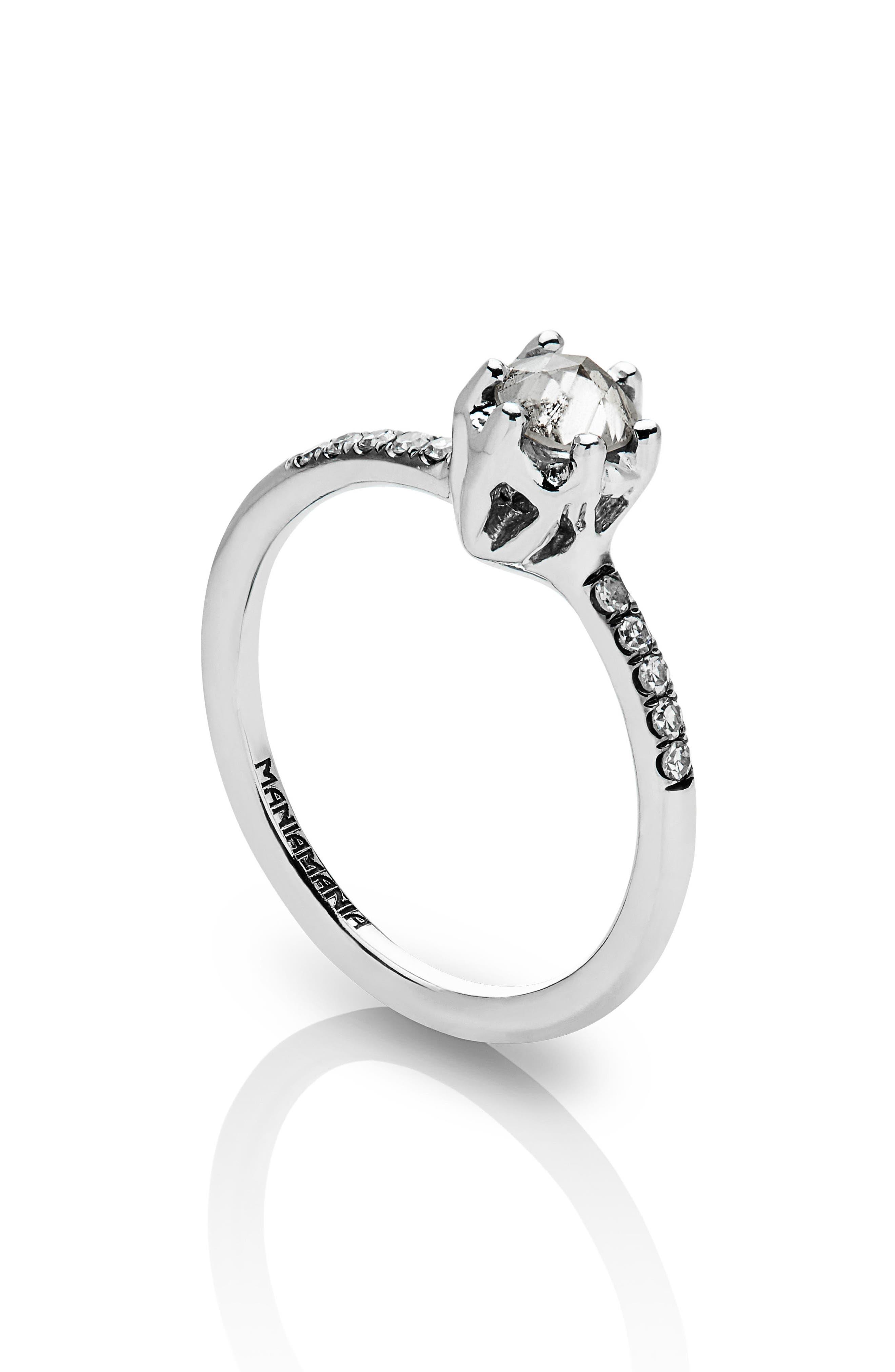 Entity Diamond Solitaire Ring,                             Alternate thumbnail 4, color,                             White Gold