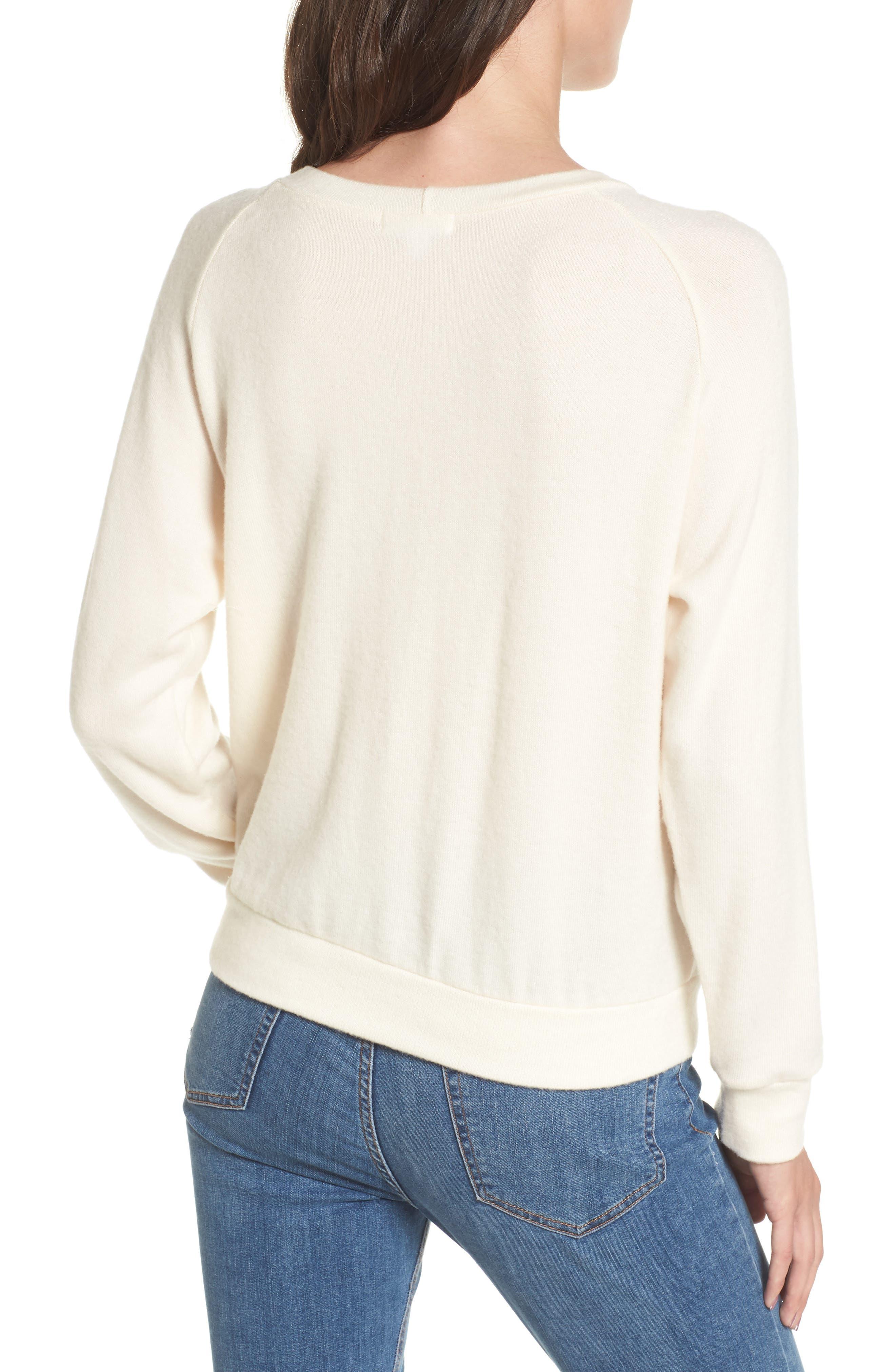 Alternate Image 2  - LNA Phased Brushed Cutout Sweater