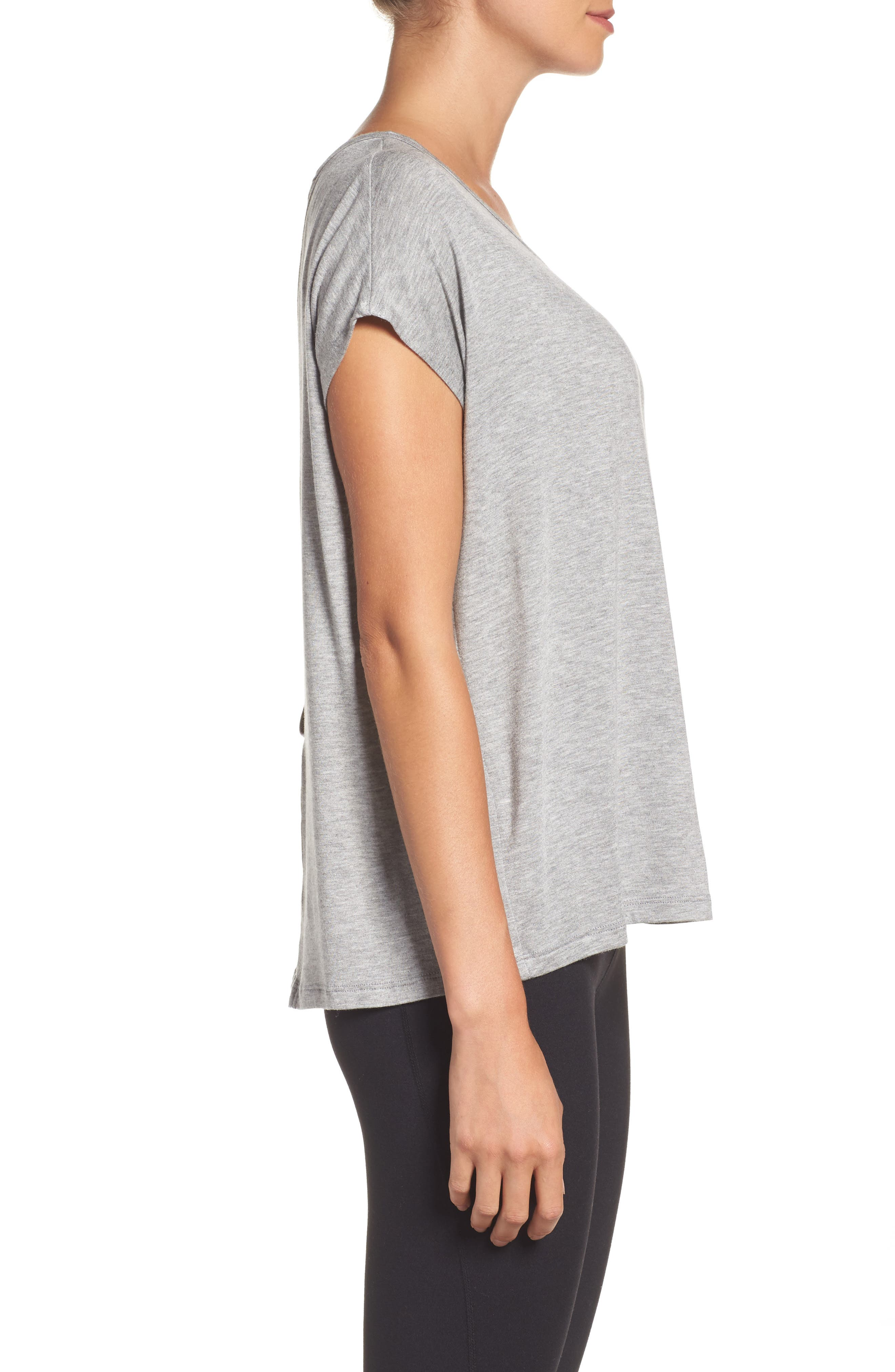 Back Out Cross Back Tee,                             Alternate thumbnail 3, color,                             Light Heather Gray