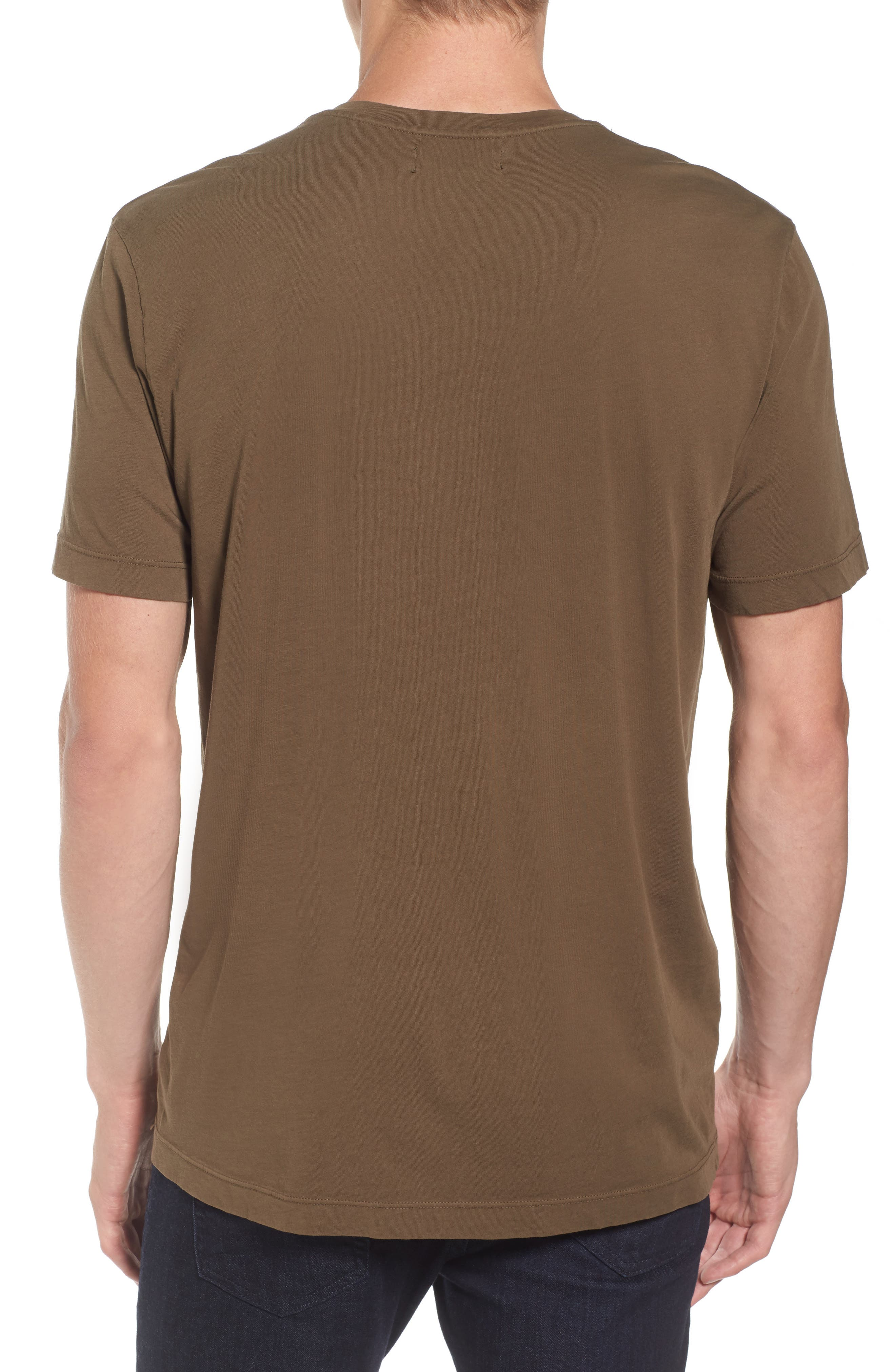 'Howard' Crewneck T-Shirt,                             Alternate thumbnail 2, color,                             Conifer