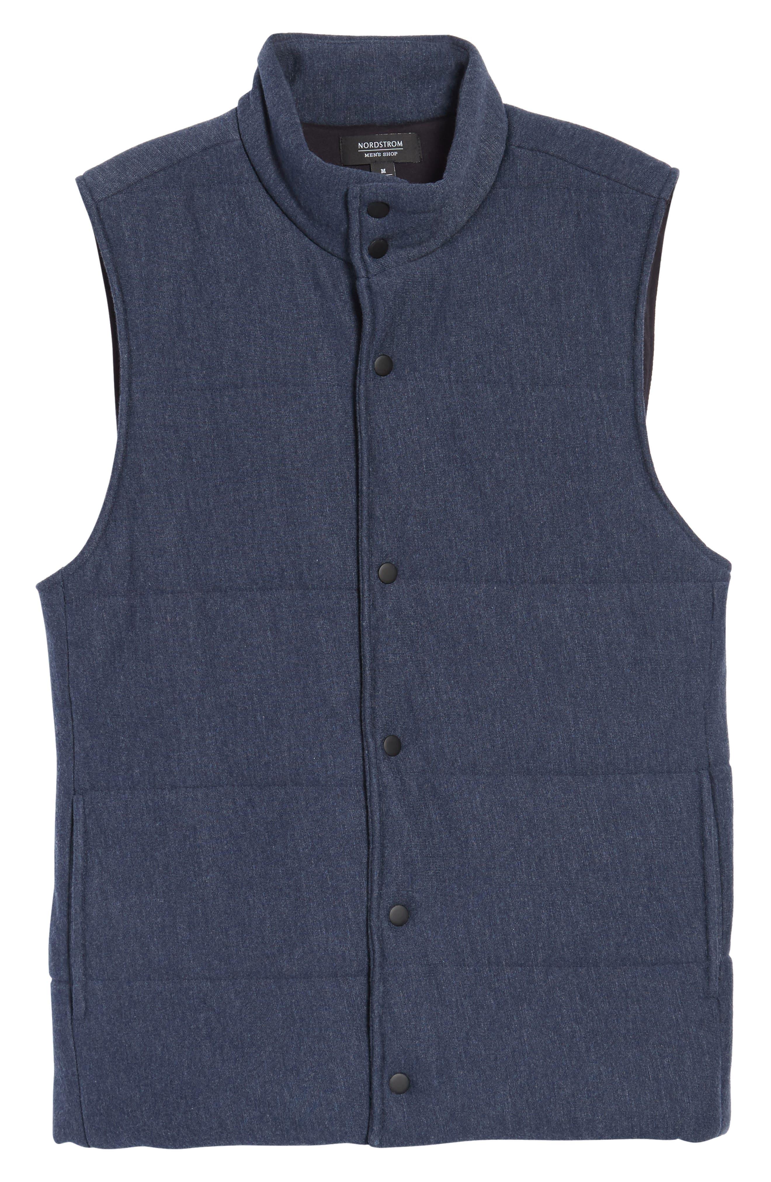 Quilted Fleece Vest,                             Alternate thumbnail 6, color,                             Navy Iris Heather