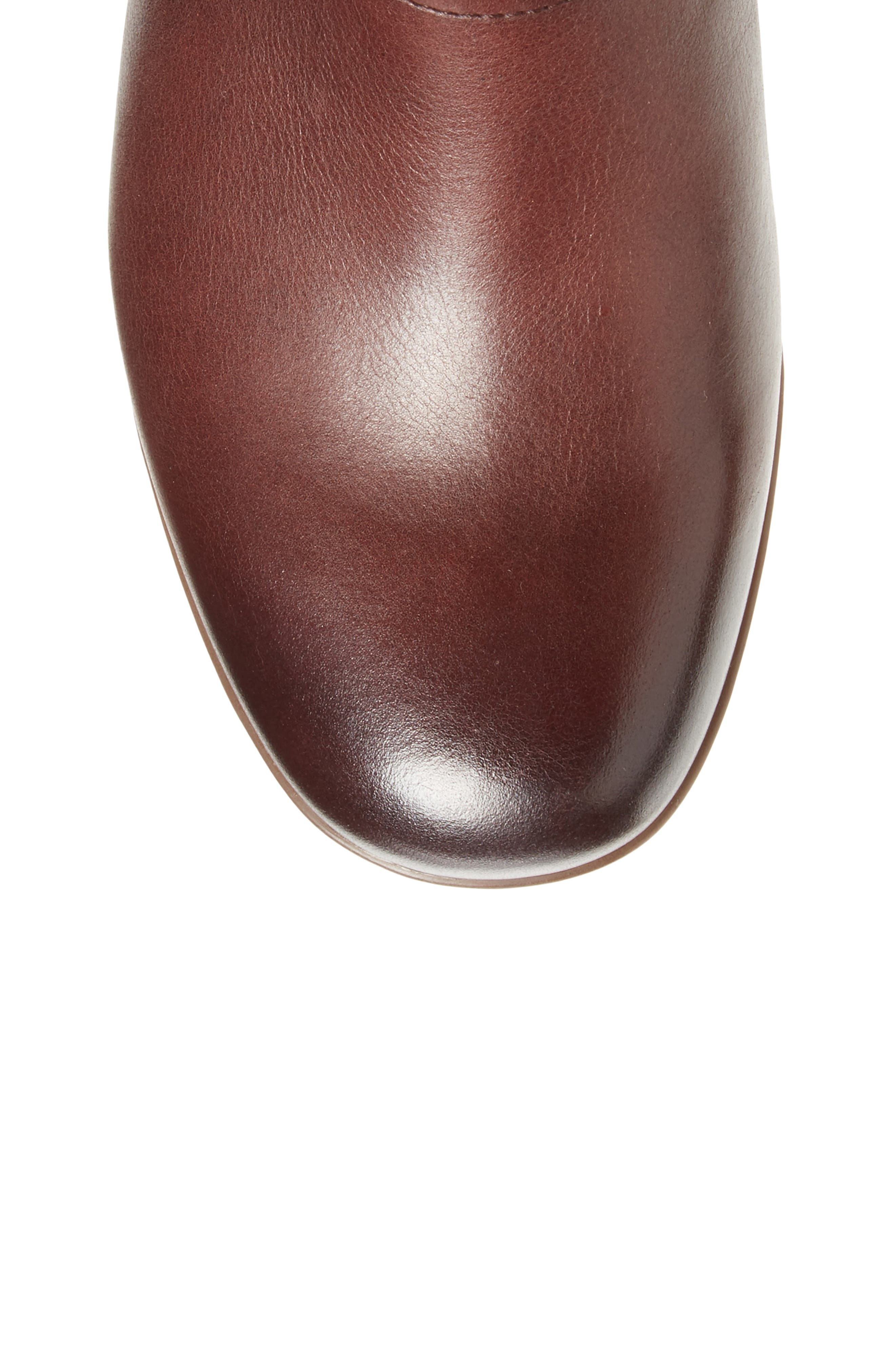 Lorna Tall Boot,                             Alternate thumbnail 5, color,                             Wine Burnished Nappa Leather