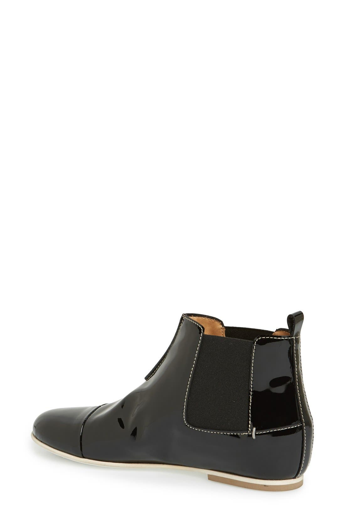 Alternate Image 2  - Aquatalia by Marvin K. 'Chime' Weatherproof Patent Leather Chelsea Boot (Women)