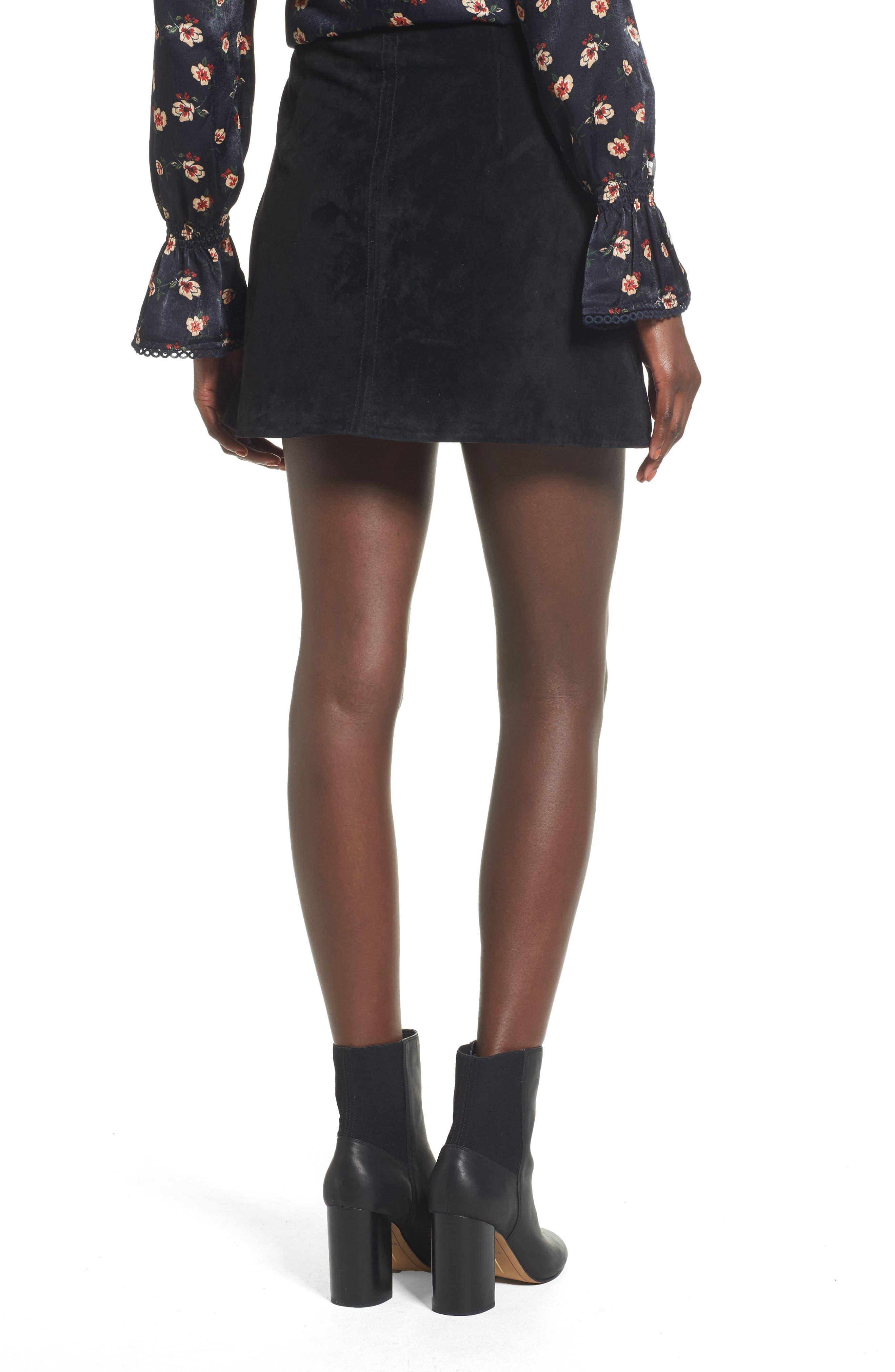 Alternate Image 2  - BLANKNYC Suede Miniskirt