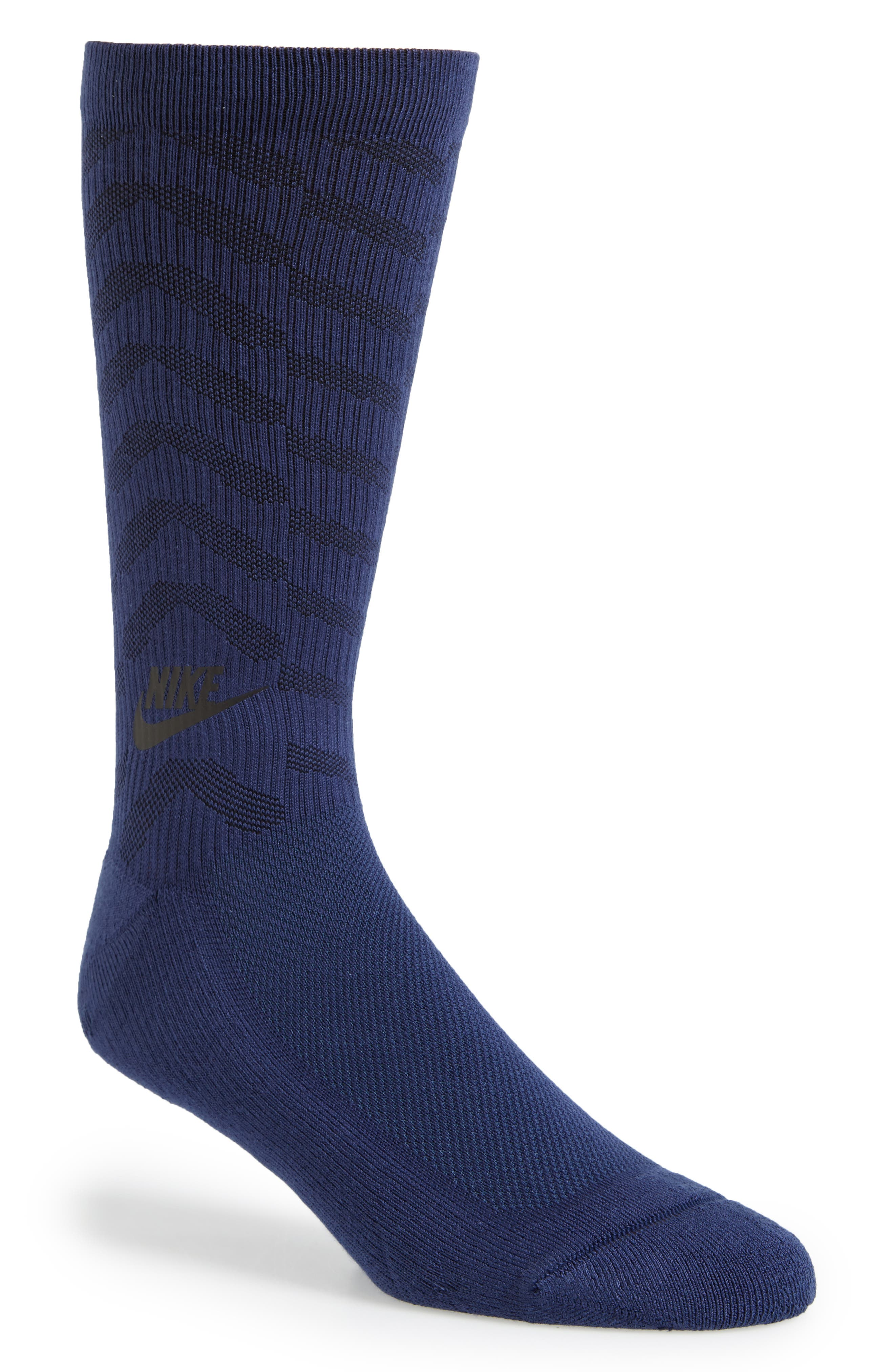 Statement Graphic Socks,                             Main thumbnail 1, color,                             Binary Blue