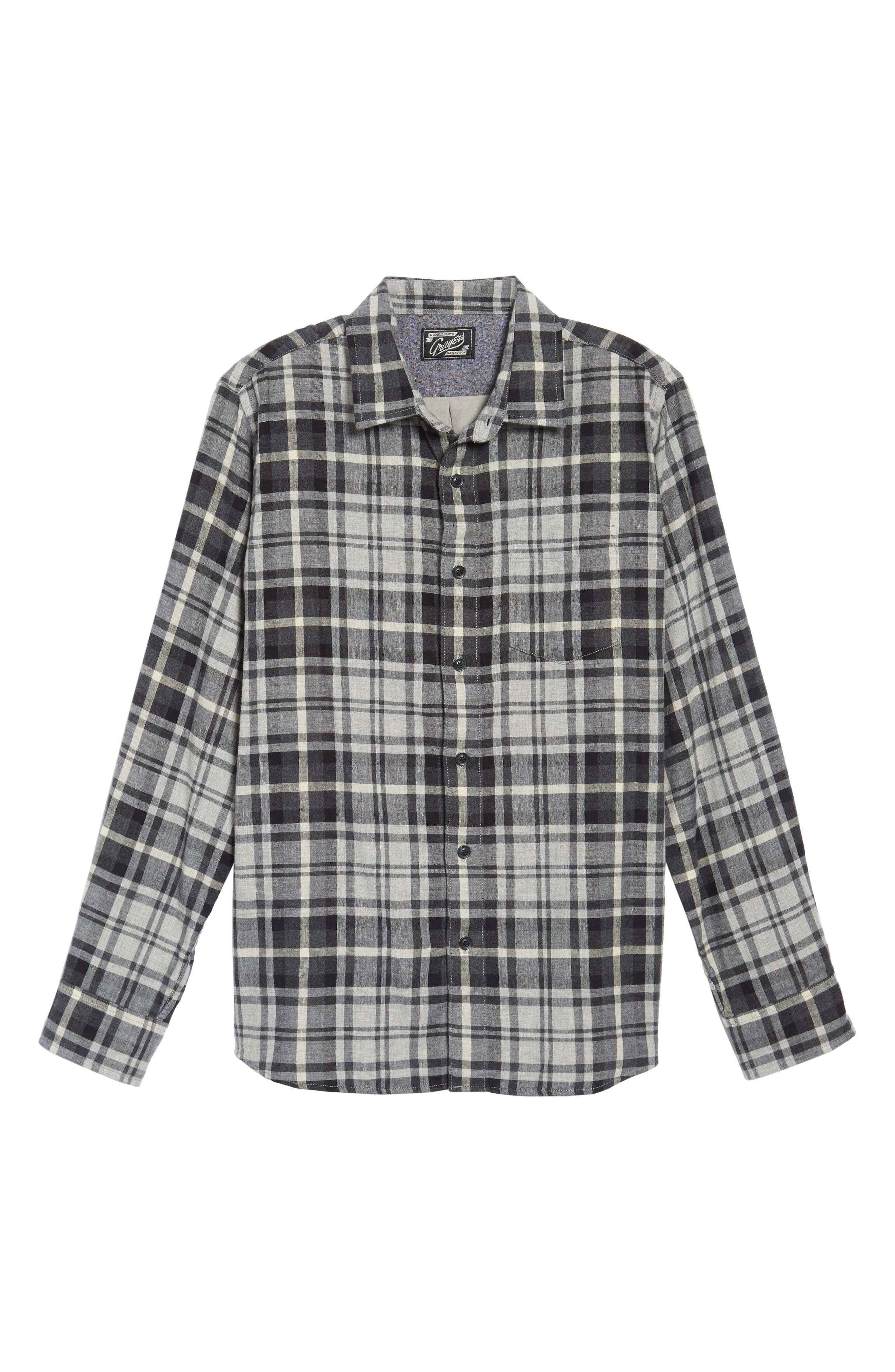 Alternate Image 6  - Grayers Heath Modern Fit Plaid Double Cloth Sport Shirt