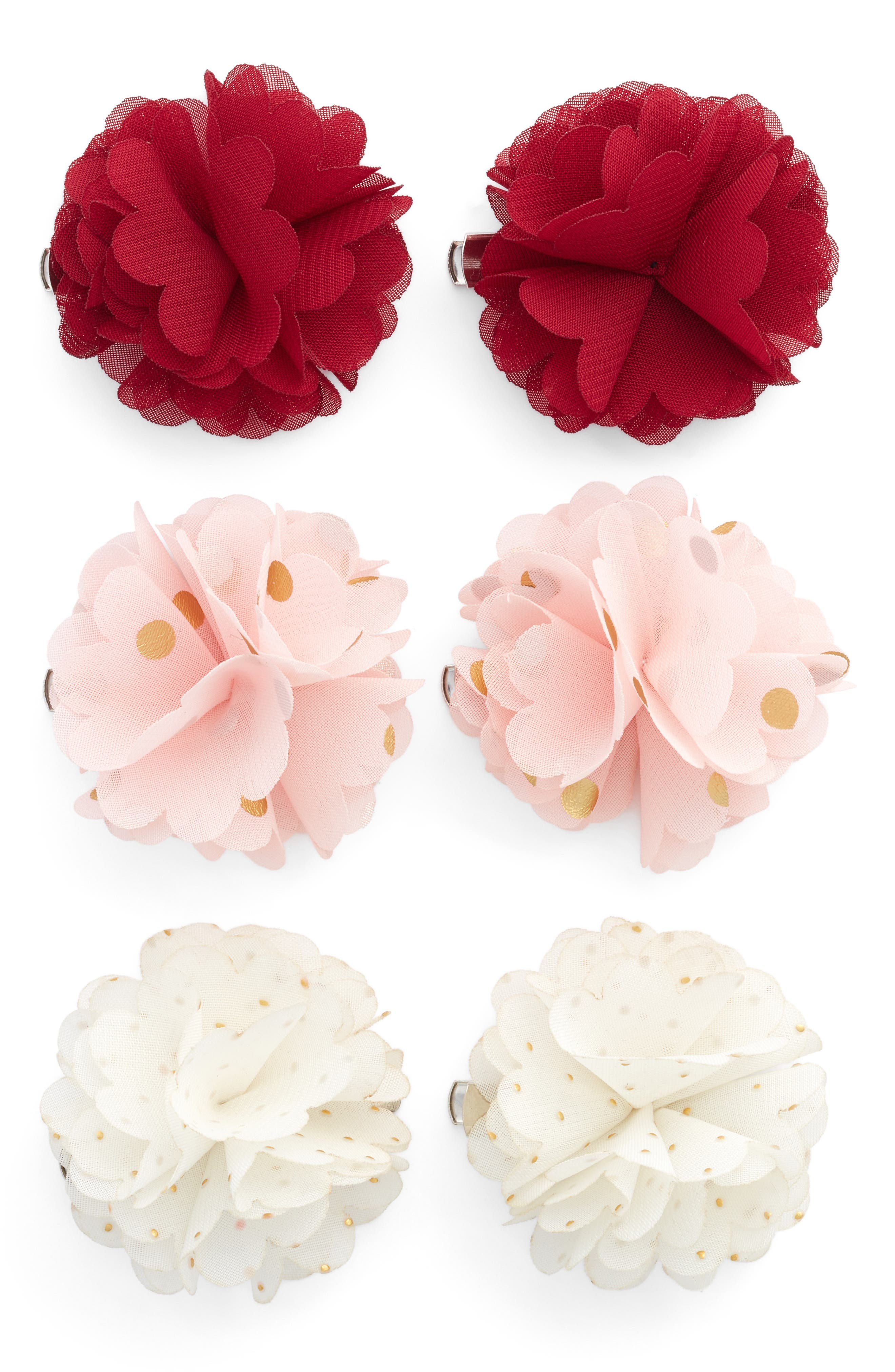 Main Image - Capelli New York 6-Pack Flower Hair Clips (Big Girls)