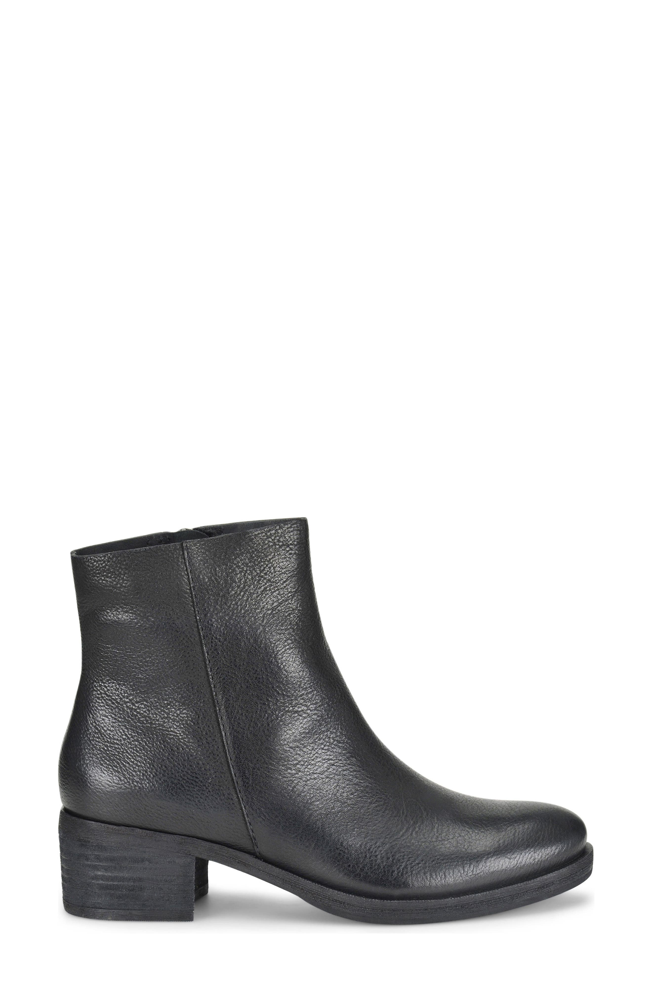 Mayten Bootie,                             Alternate thumbnail 3, color,                             Black Leather