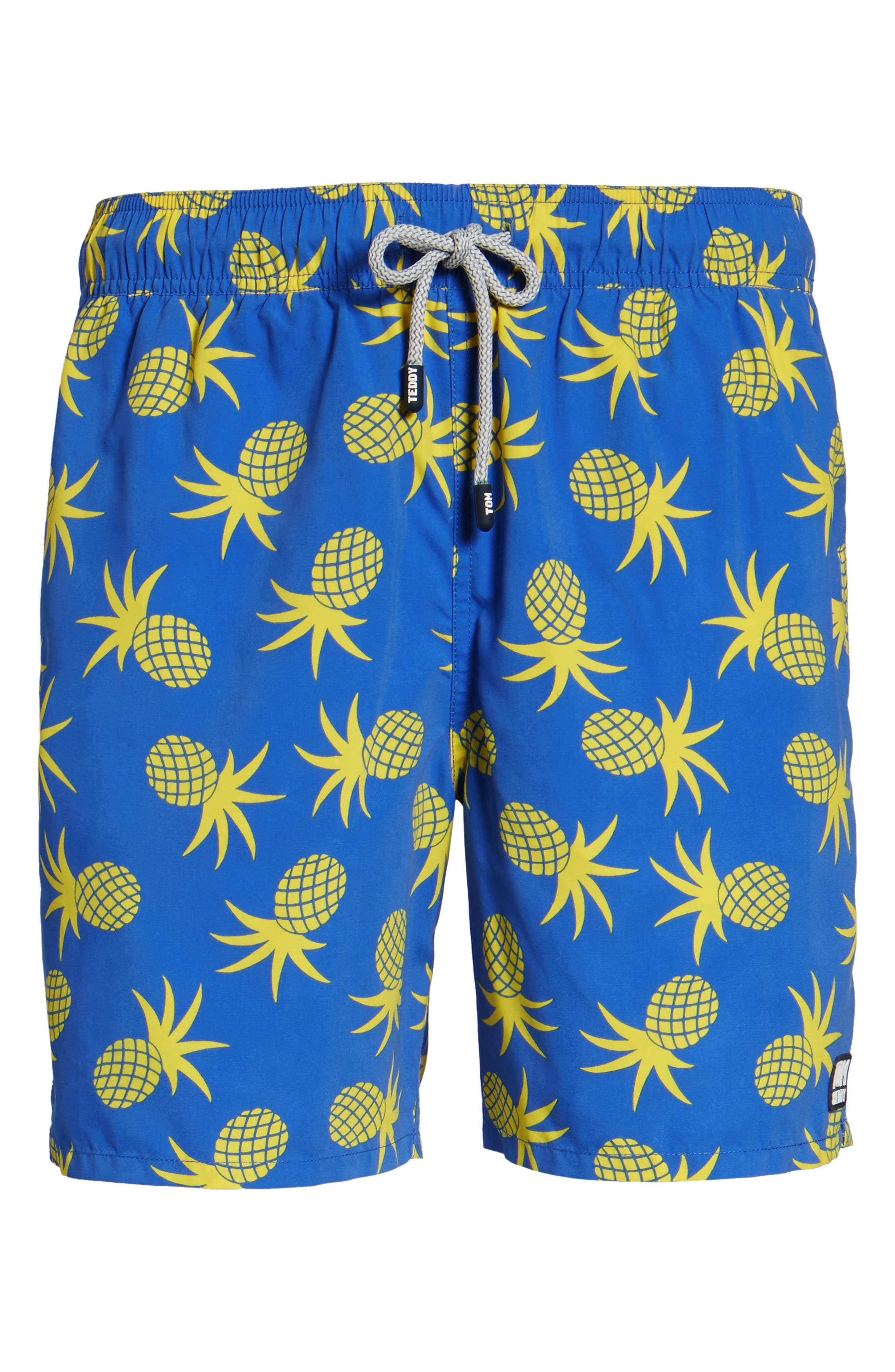 Alternate Image 6  - Tom & Teddy Pineapple Swim Trunks