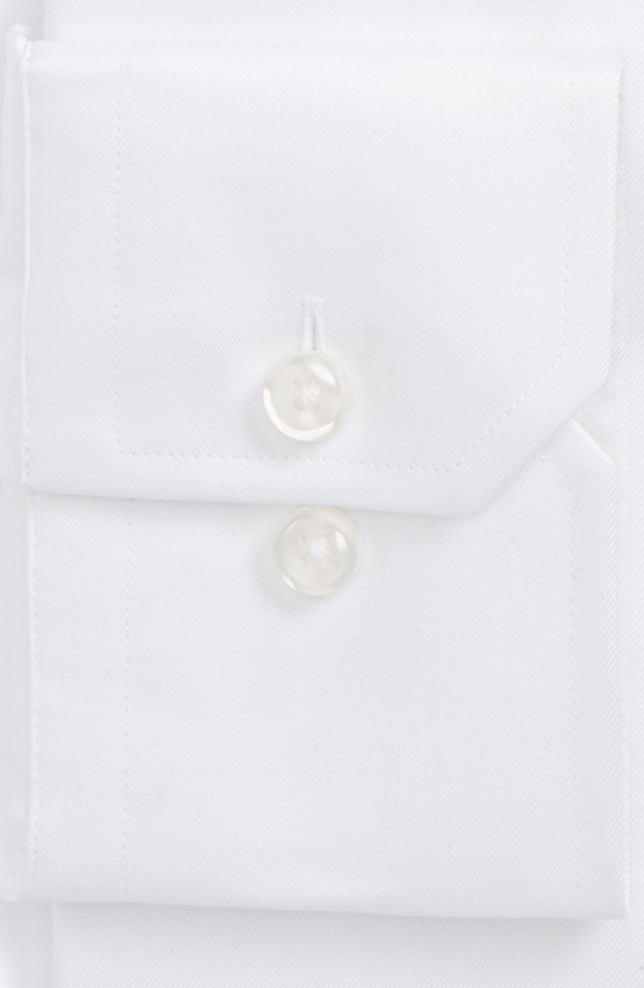 Alternate Image 2  - Strong Suit Trim Fit Solid Twill Dress Shirt