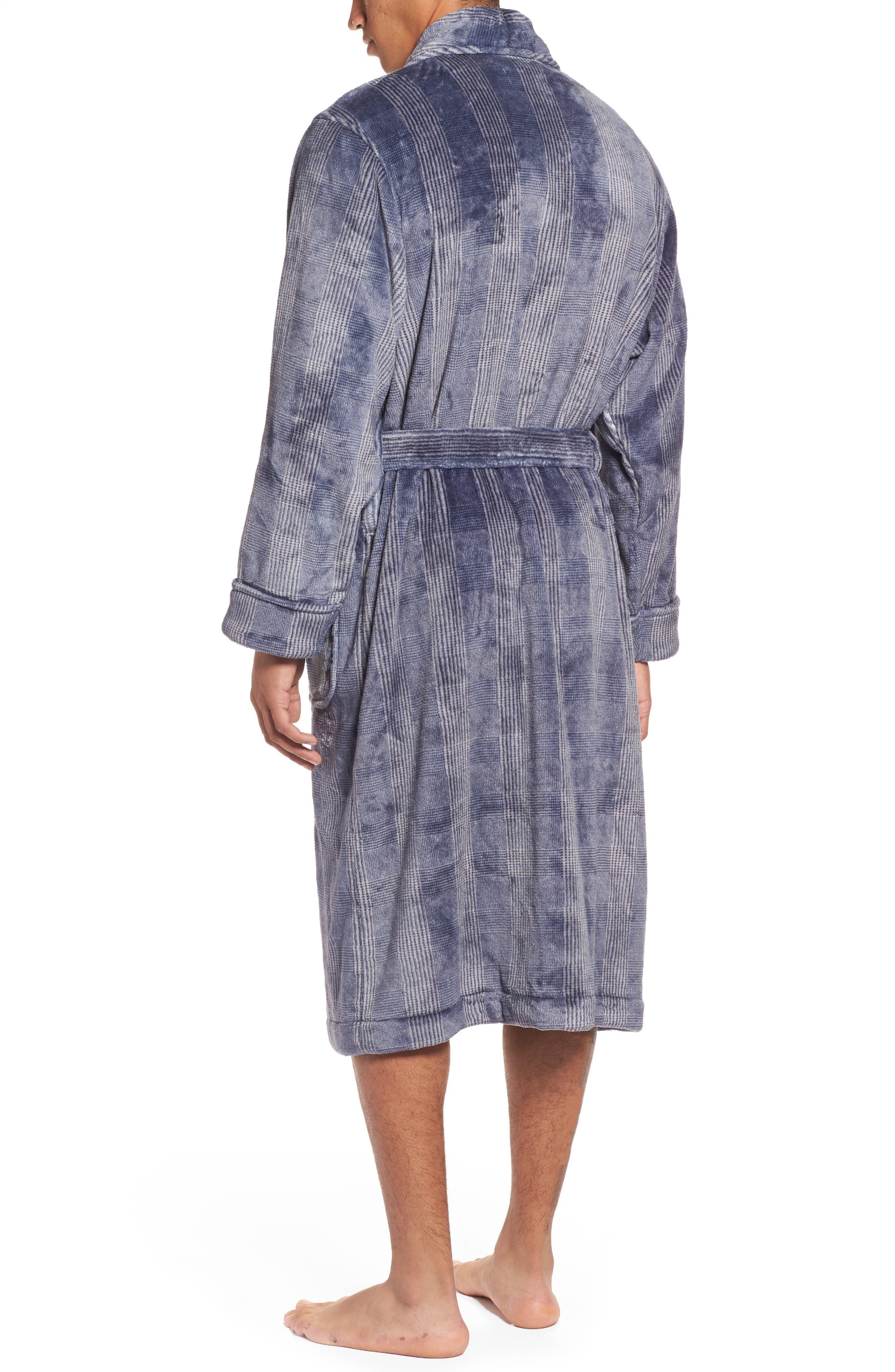 Alternate Image 2  - Nordstrom Men's Shop Glen Check Fleece Robe
