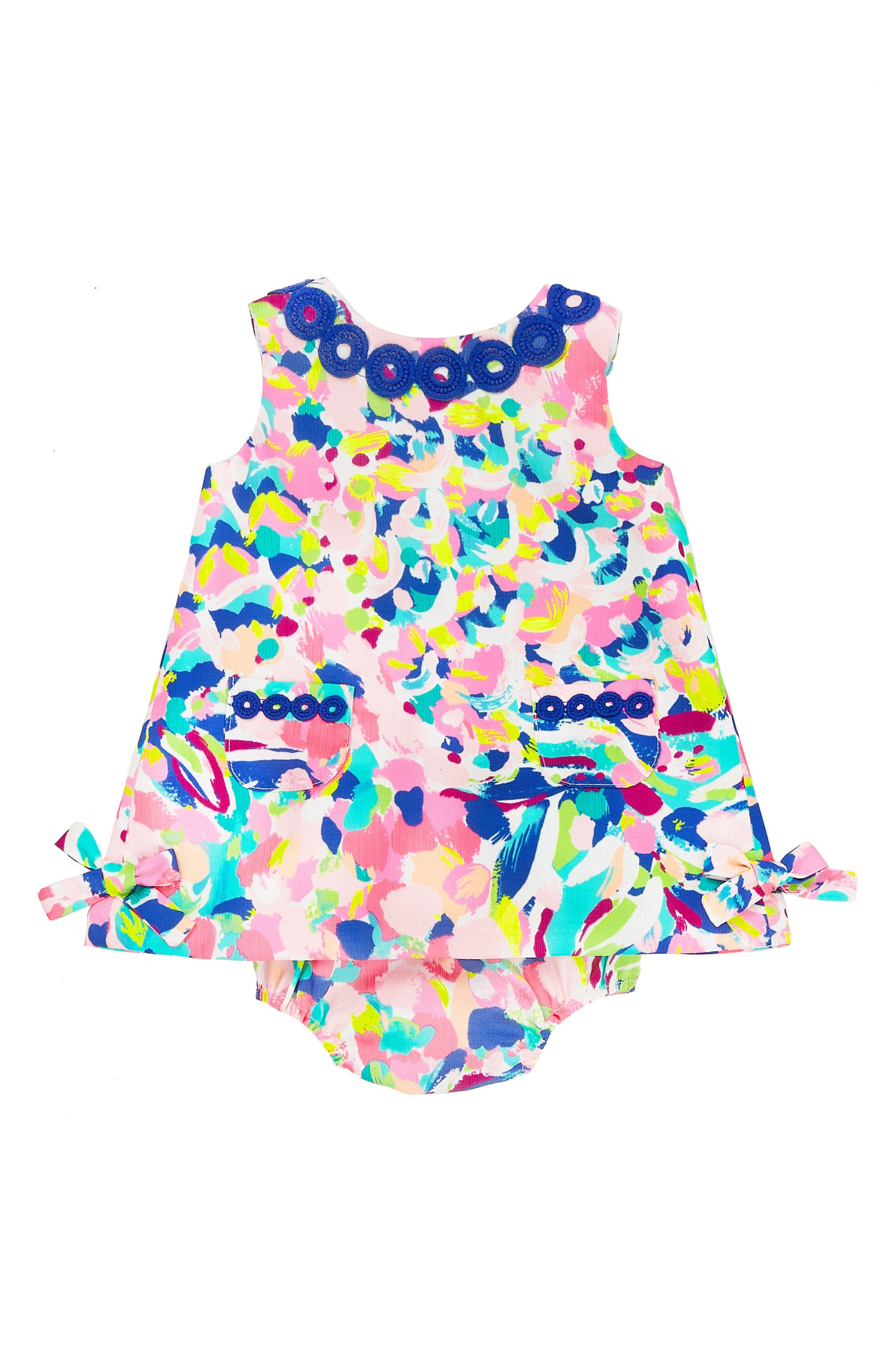 Baby Lilly Shift Dress,                         Main,                         color, Multi Pina Colada Club