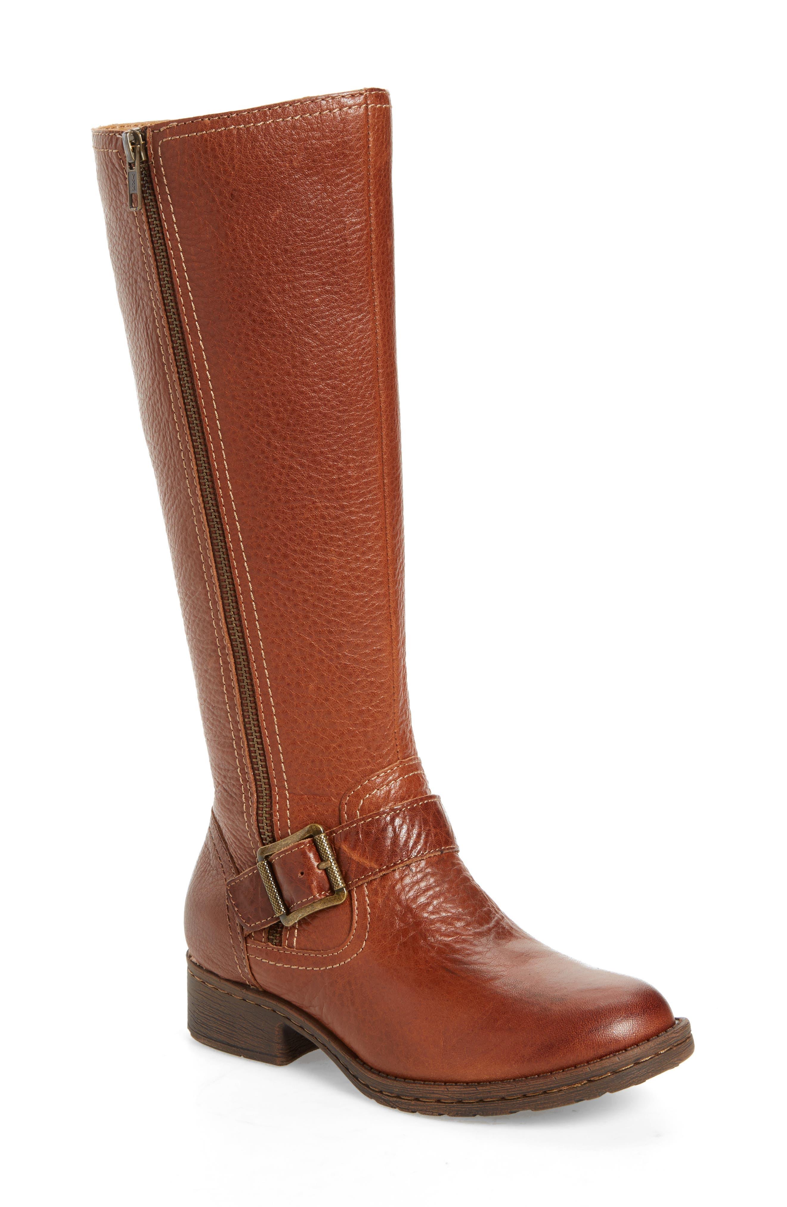 Sedalia Tall Boot,                         Main,                         color, Whiskey Leather