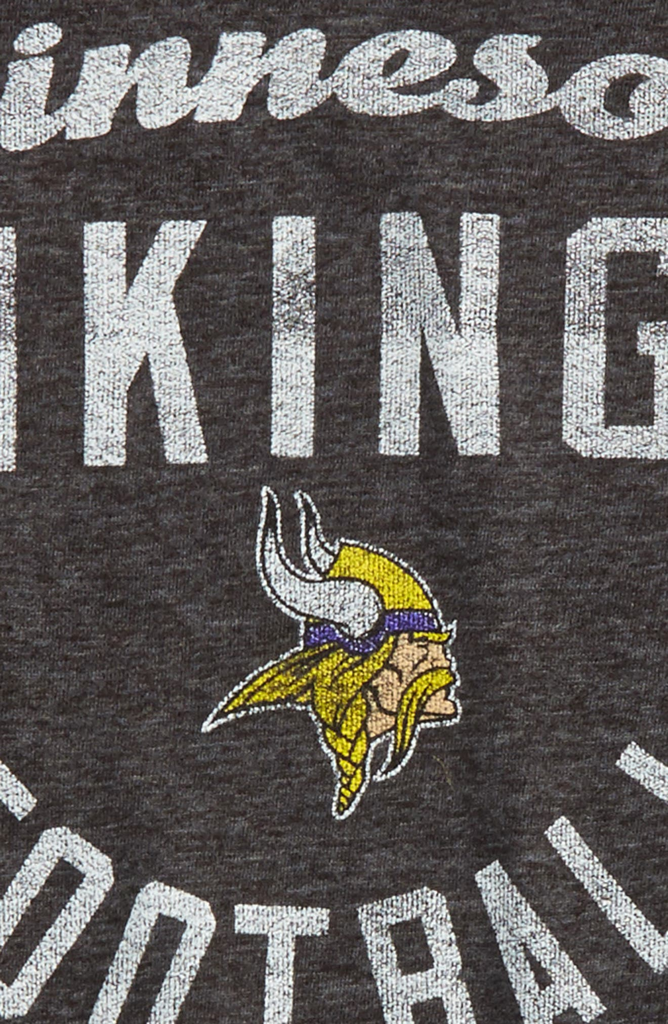 NFL Minnesota Vikings Distressed Logo T-Shirt,                             Alternate thumbnail 2, color,                             Regal Purple