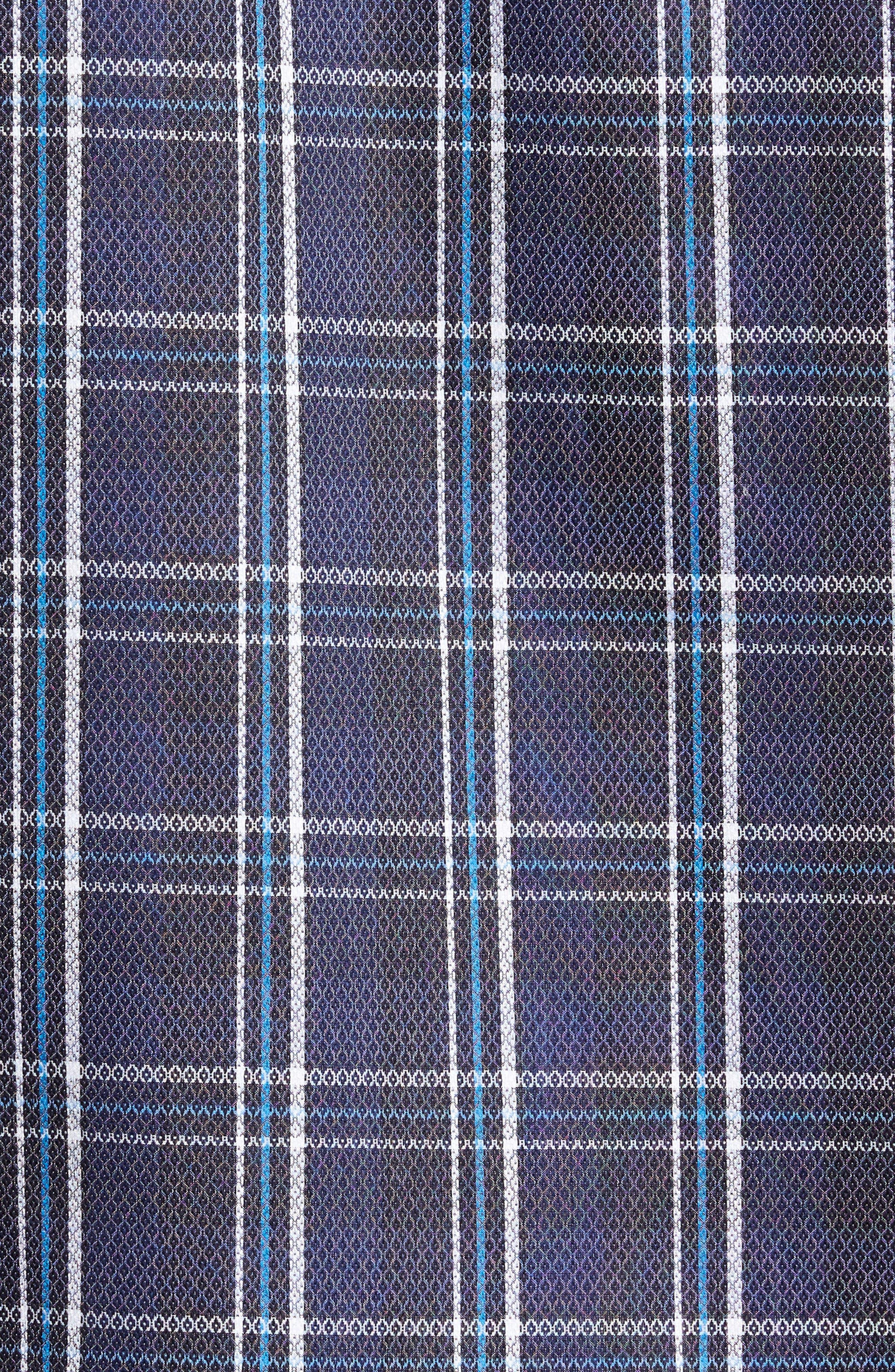 Alternate Image 5  - Bugatchi Trim Fit Diamond Weave Windowpane Sport Shirt
