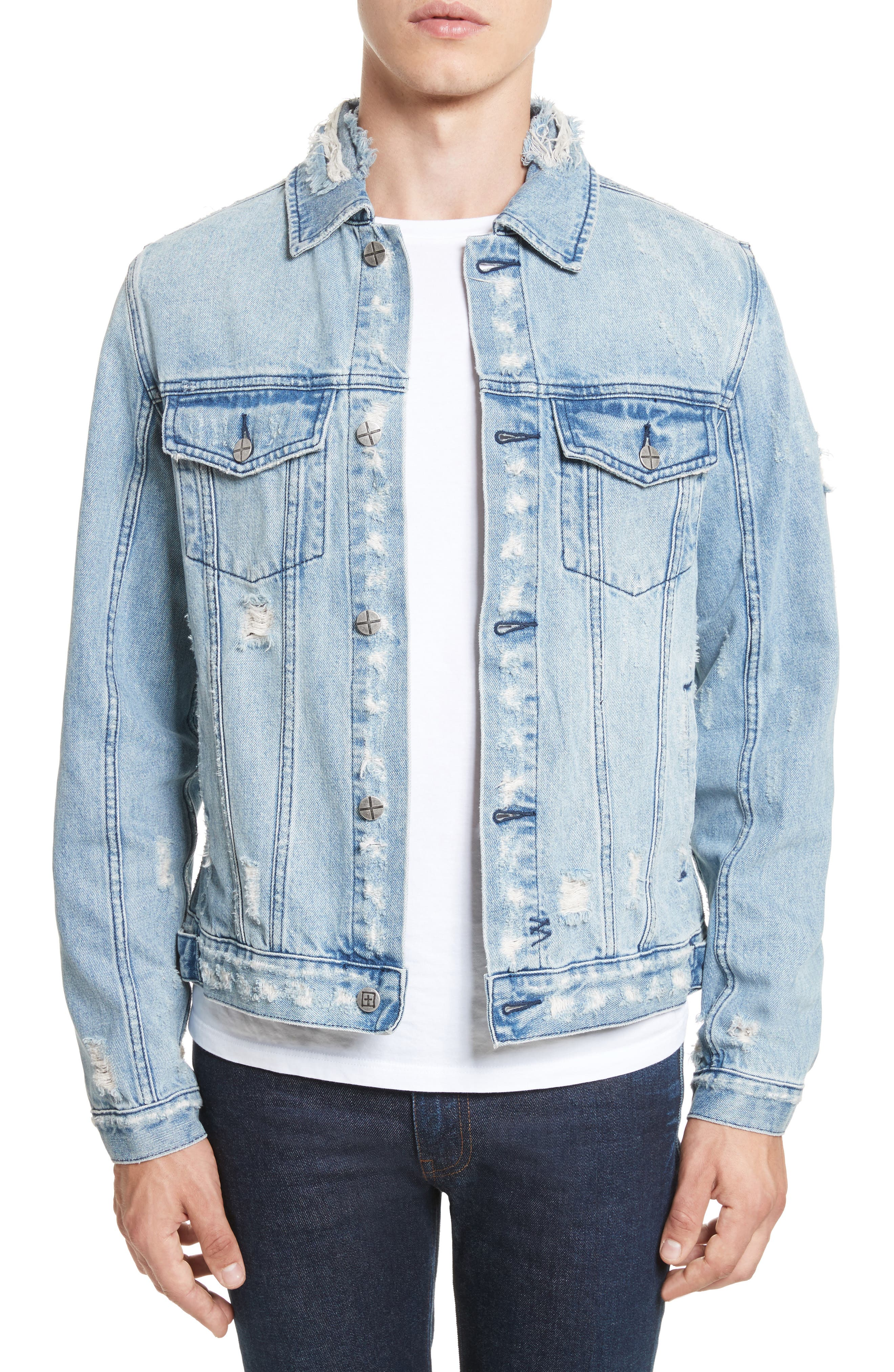 Hendrix Denim Jacket,                             Main thumbnail 1, color,                             Blue