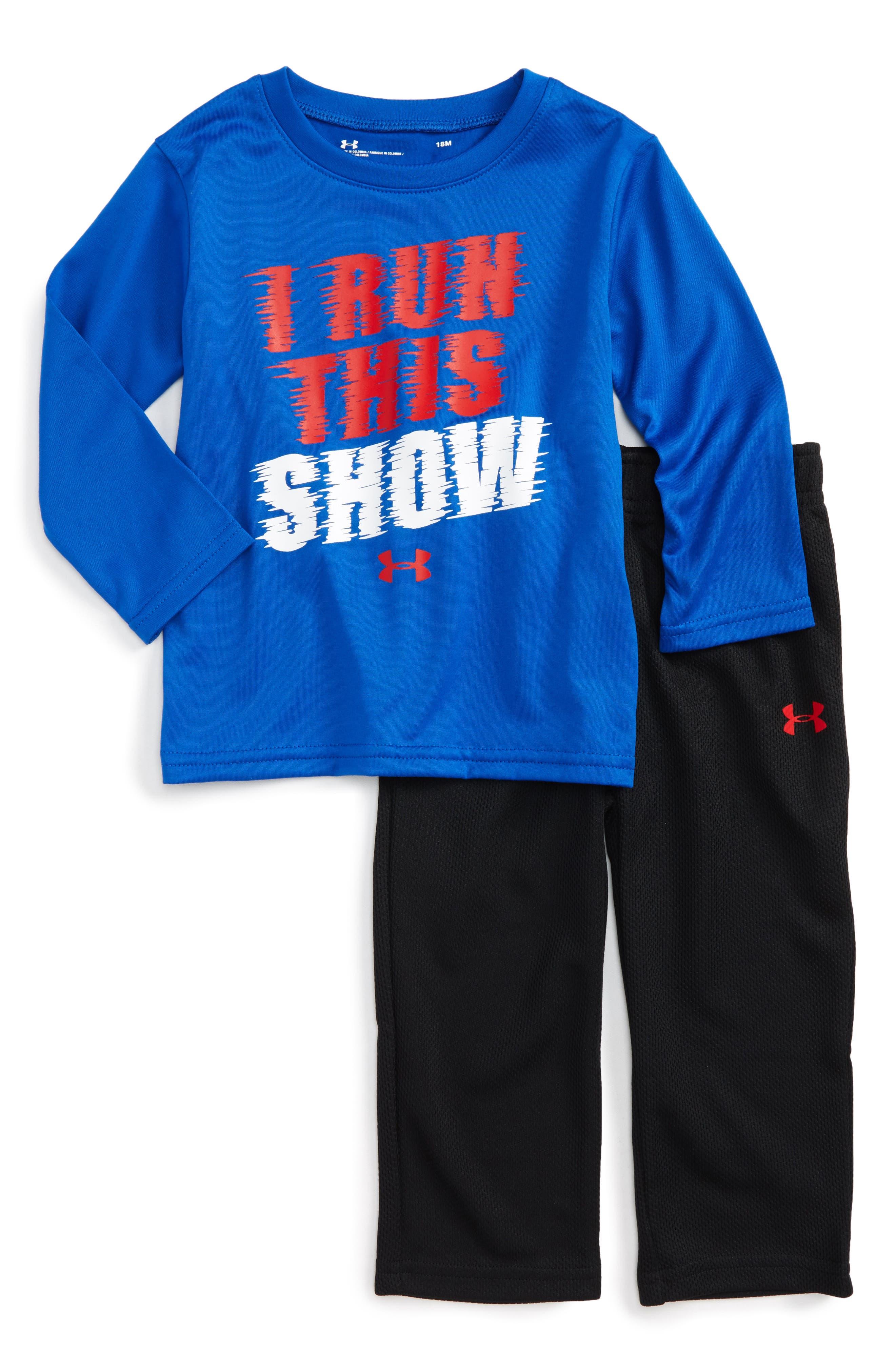 Under Armour I Run This Show T-Shirt & Pants Set (Baby Boys)