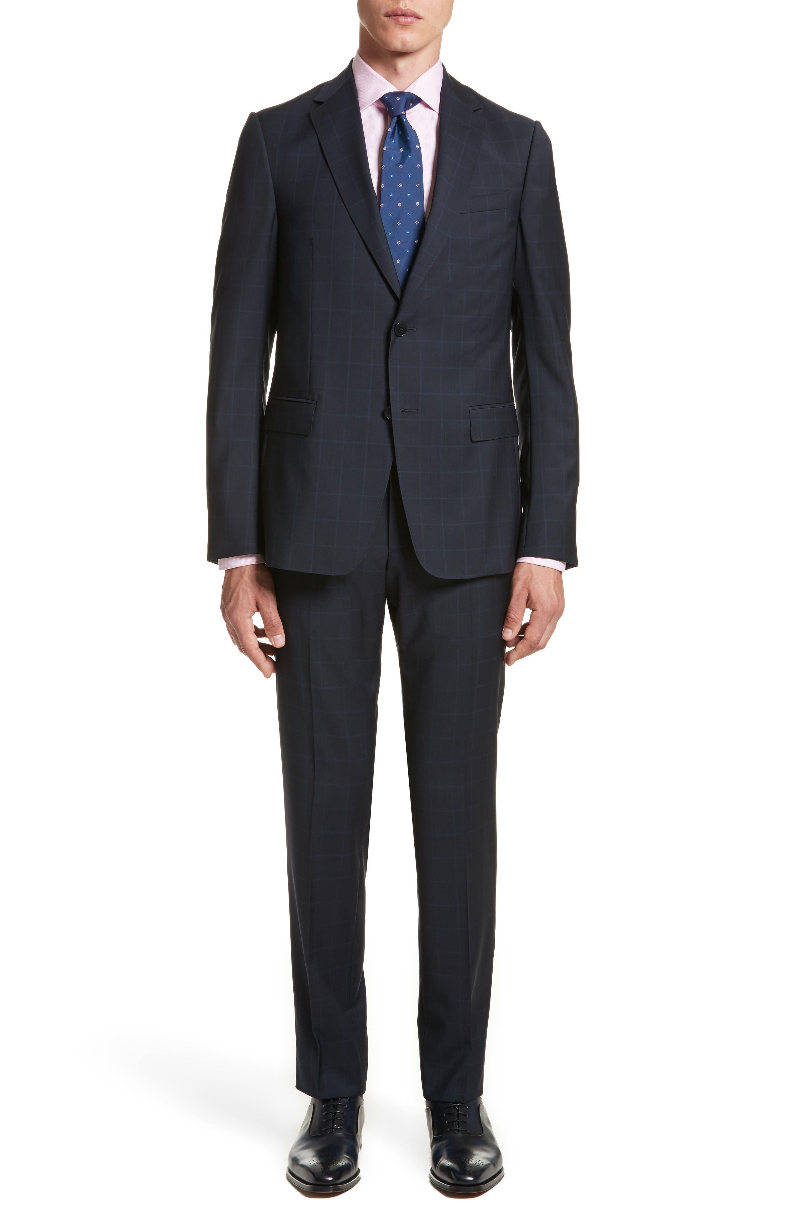 Main Image - Z Zegna Classic Fit Windowpane Wool Suit
