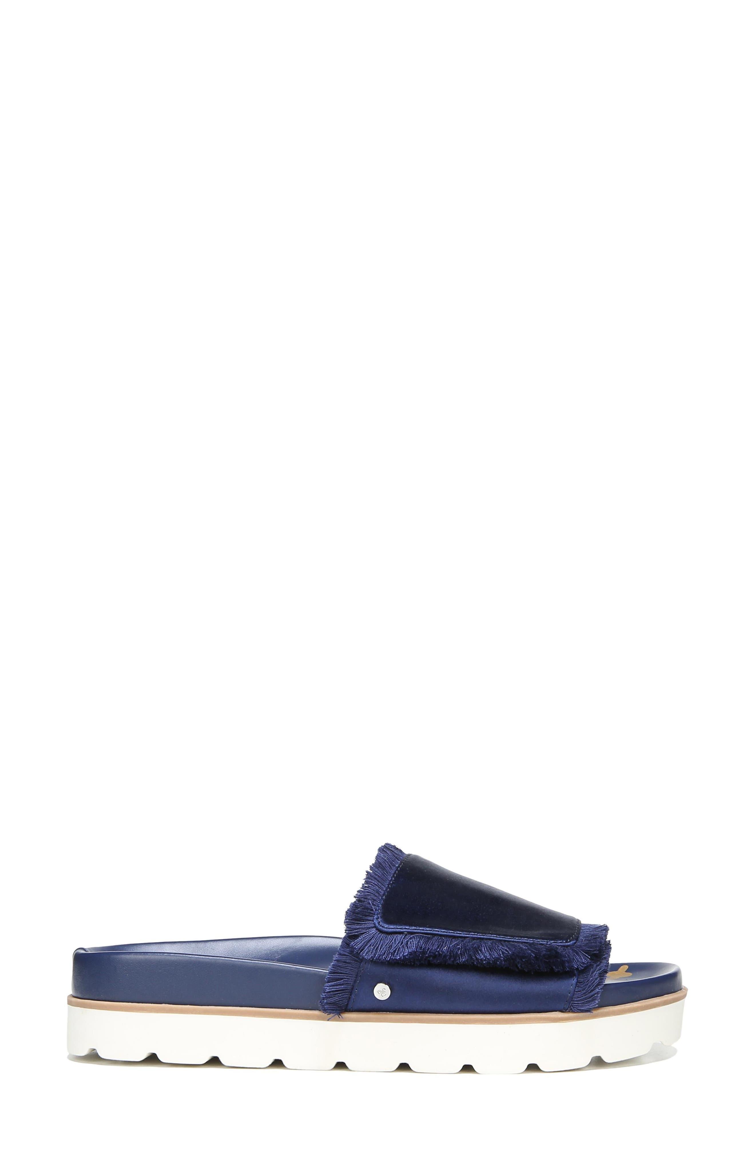 Mares Slide Sandal,                             Alternate thumbnail 3, color,                             Poseidon Blue Satin