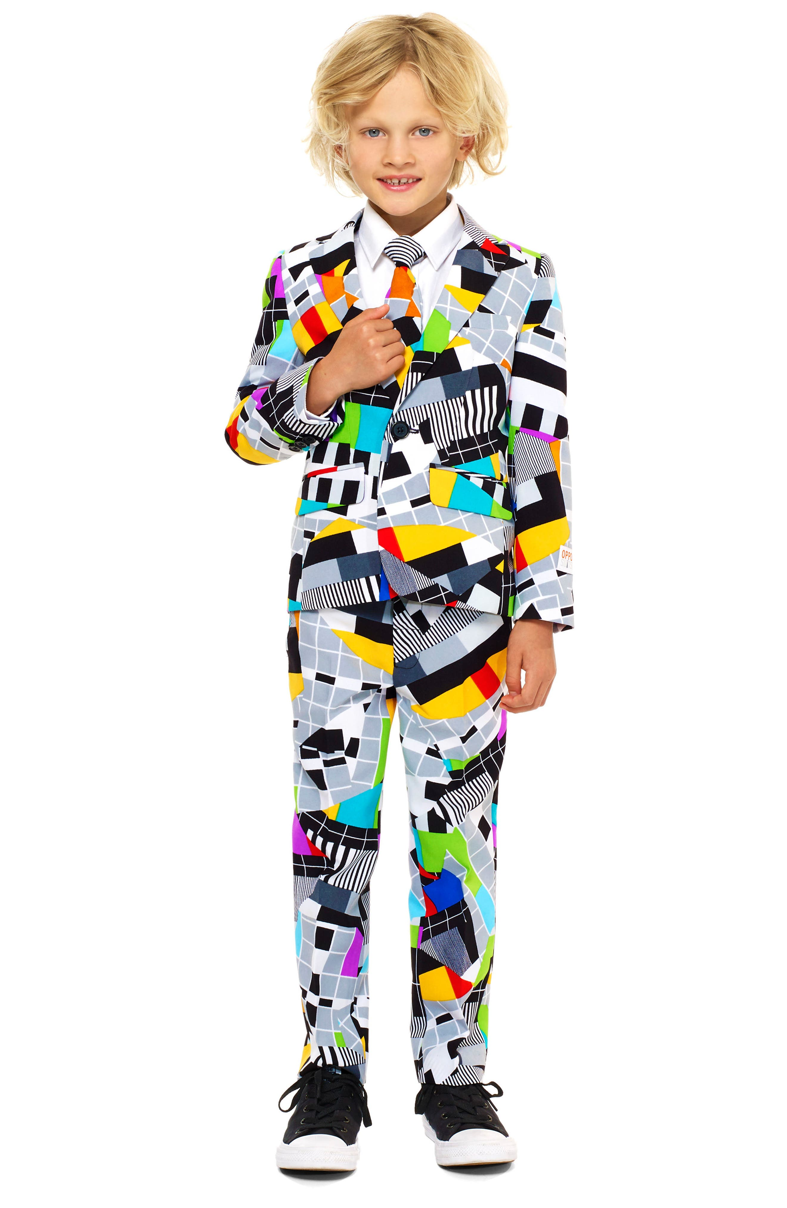 Main Image - Oppo Testival Two-Piece Suit with Tie (Toddler Boys, Little Boys & Big Boys)