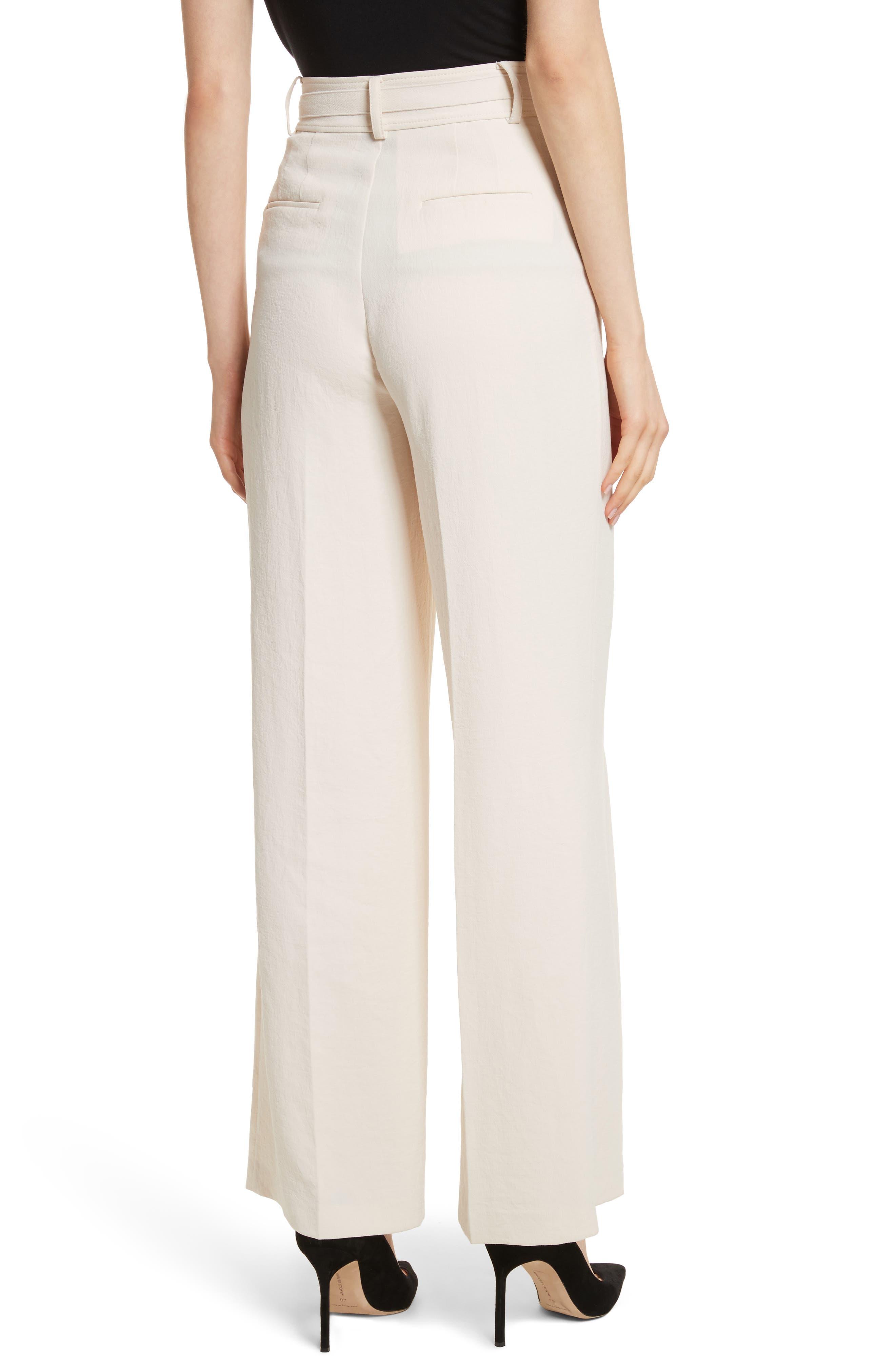 Alternate Image 2  - Rebecca Taylor Crepe Tie Waist Pants