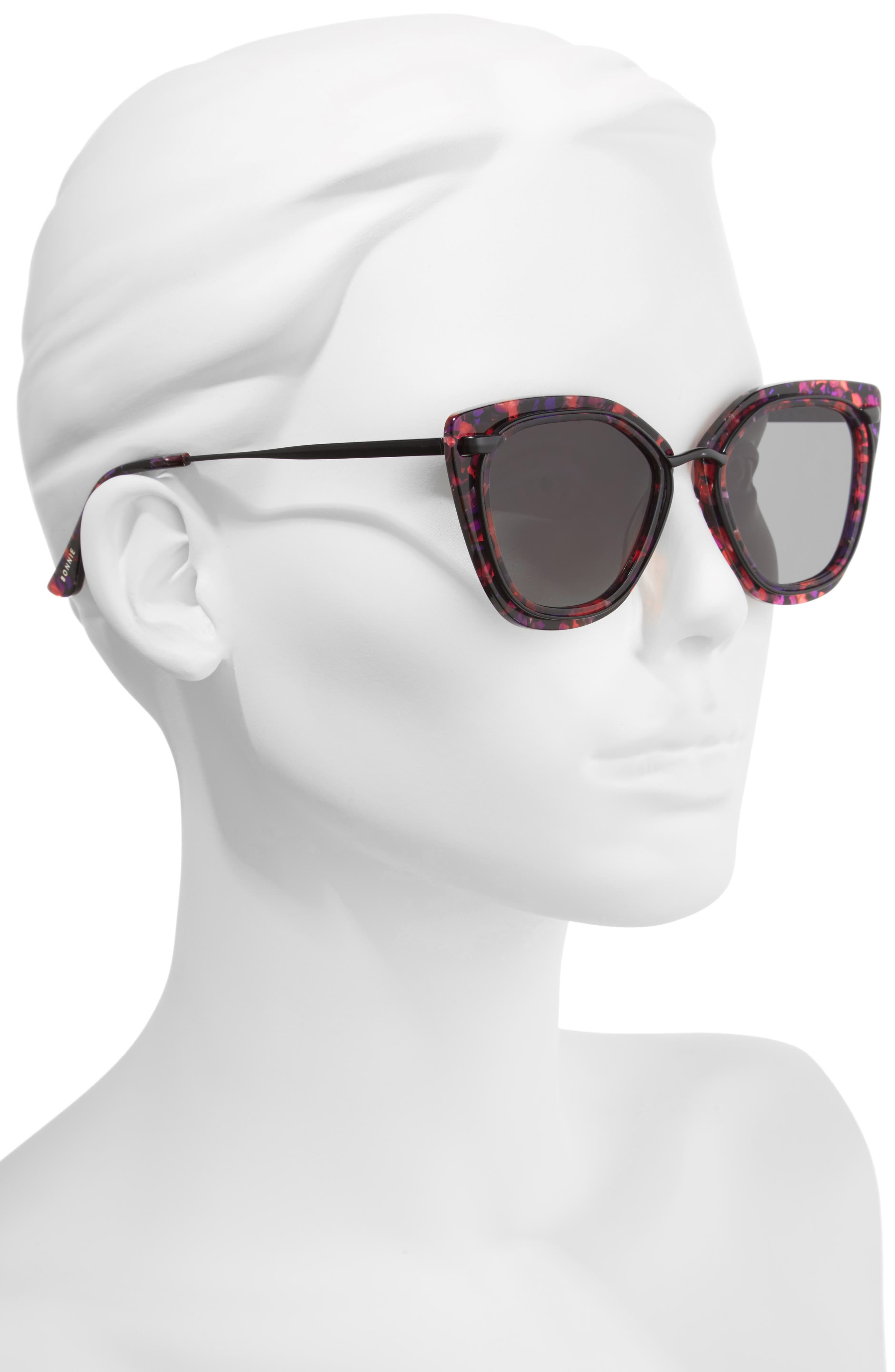 Temple 52mm Sunglasses,                             Alternate thumbnail 2, color,                             Purple Tortoise