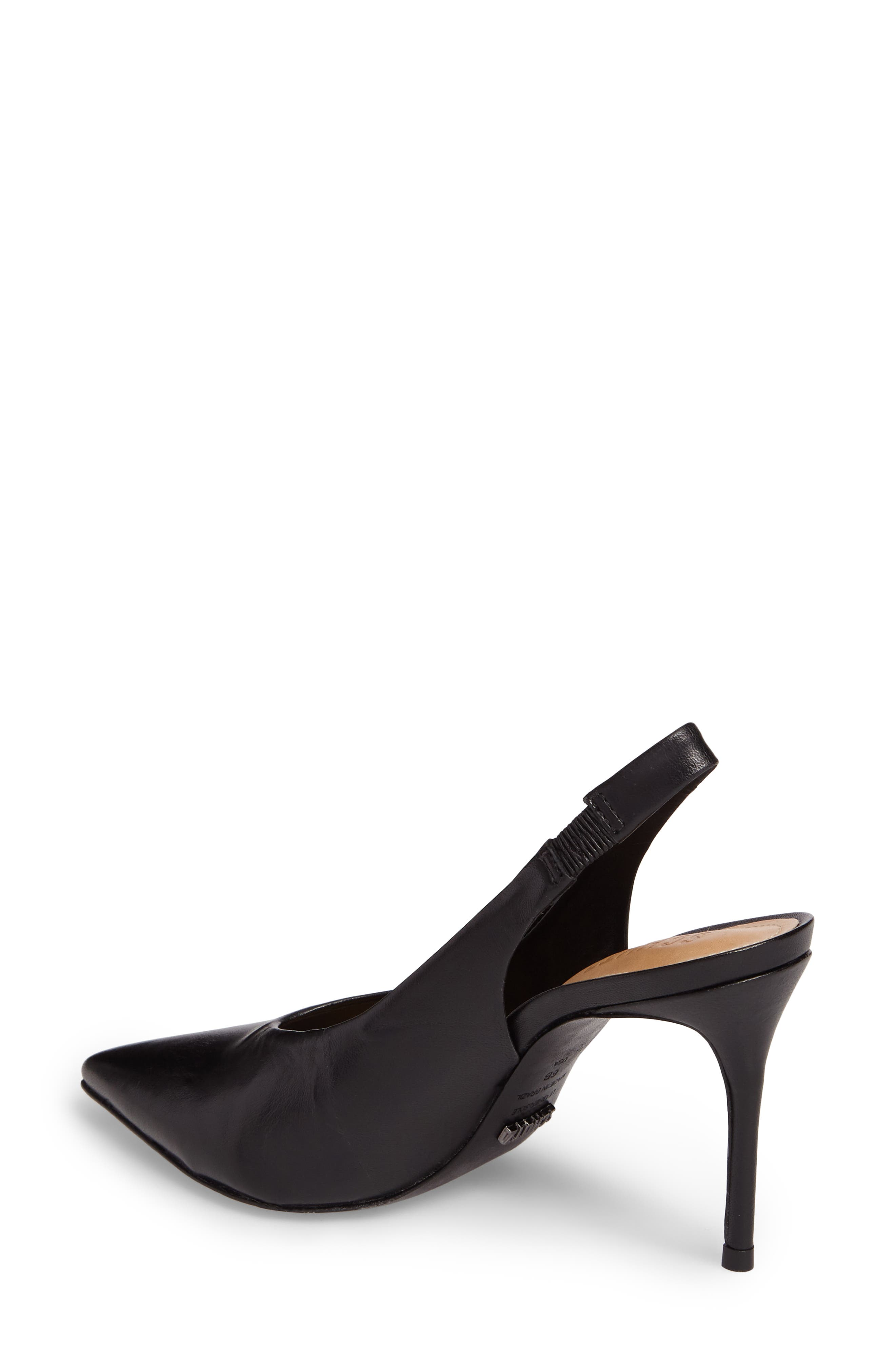 Phisalis Slingback Pump,                             Alternate thumbnail 2, color,                             Black Mestico Leather