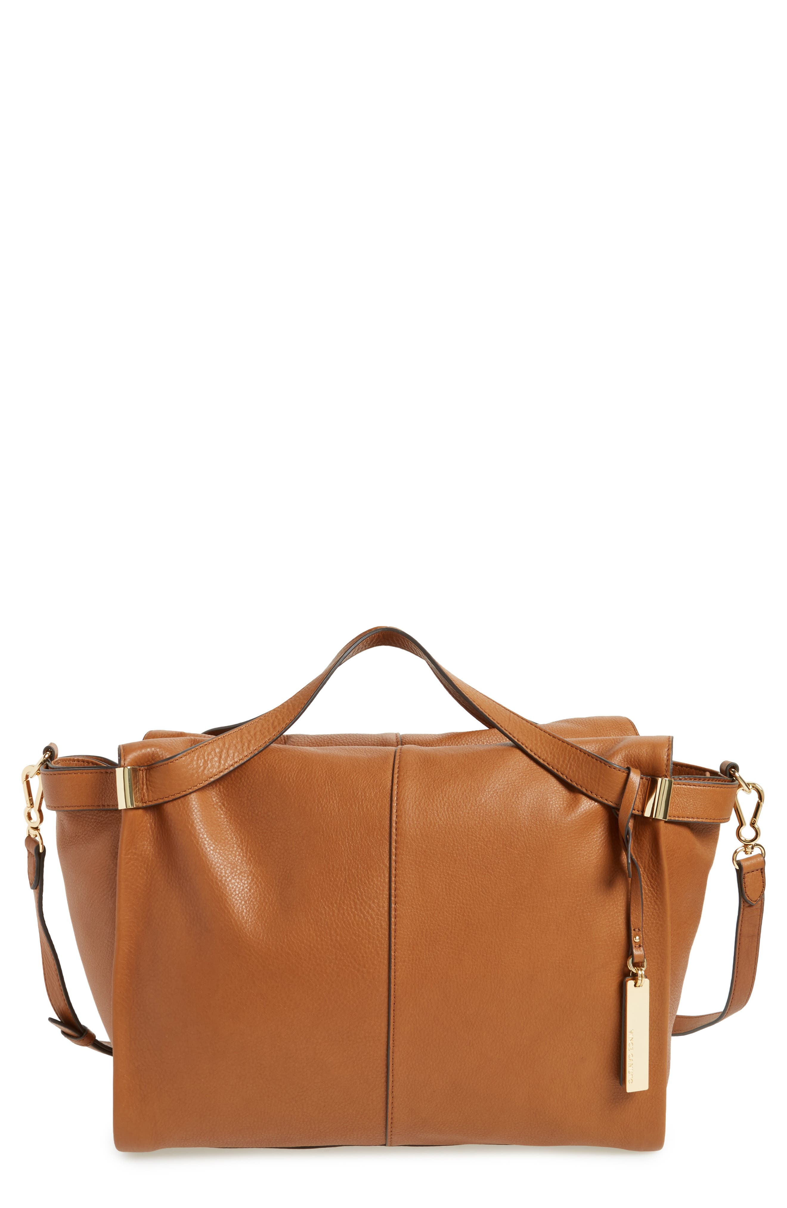 Rosen Leather Satchel,                             Main thumbnail 1, color,                             Dark Rum