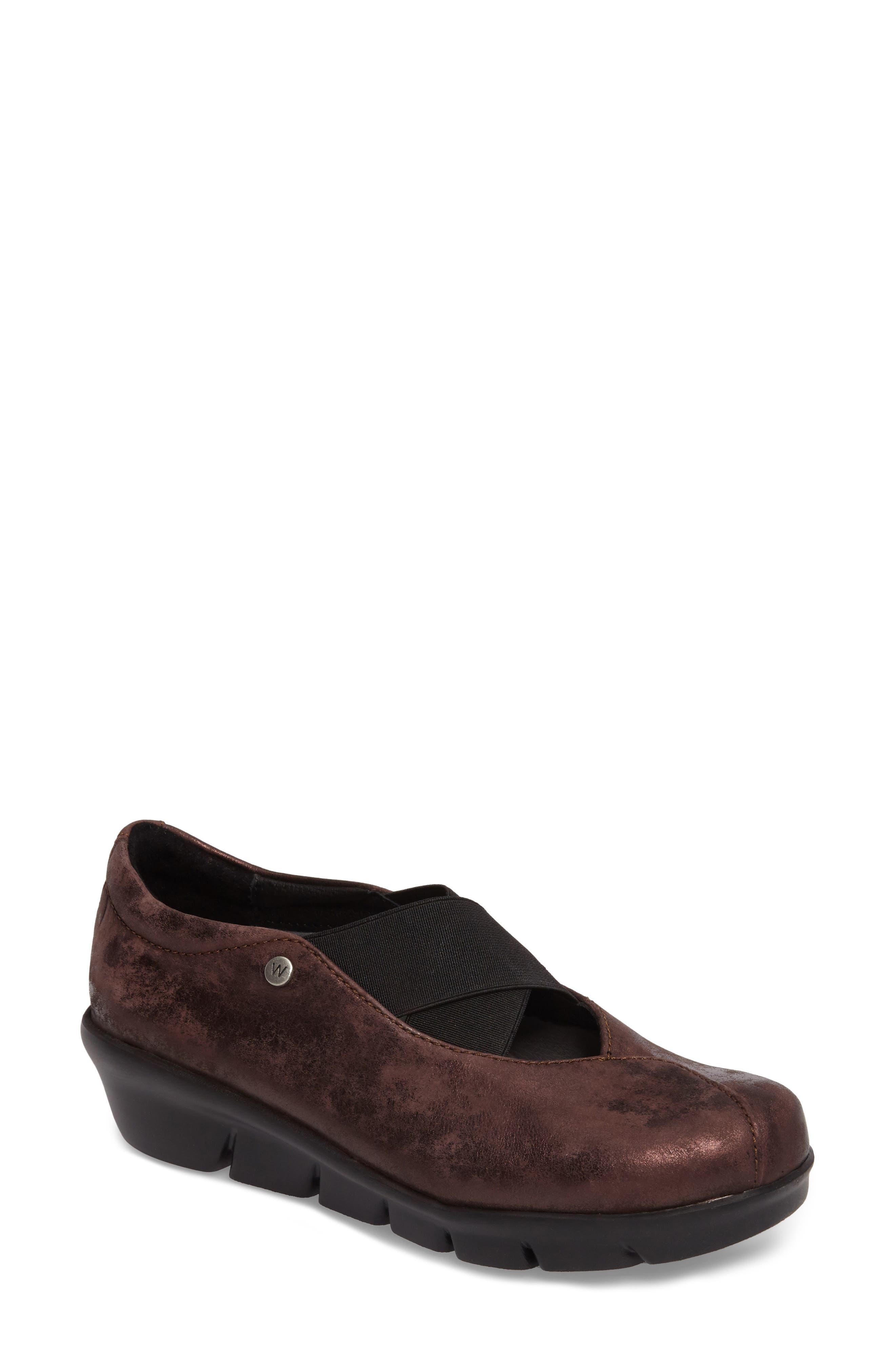 Cursa Slip-On Sneaker,                             Main thumbnail 1, color,                             Mocha Leather