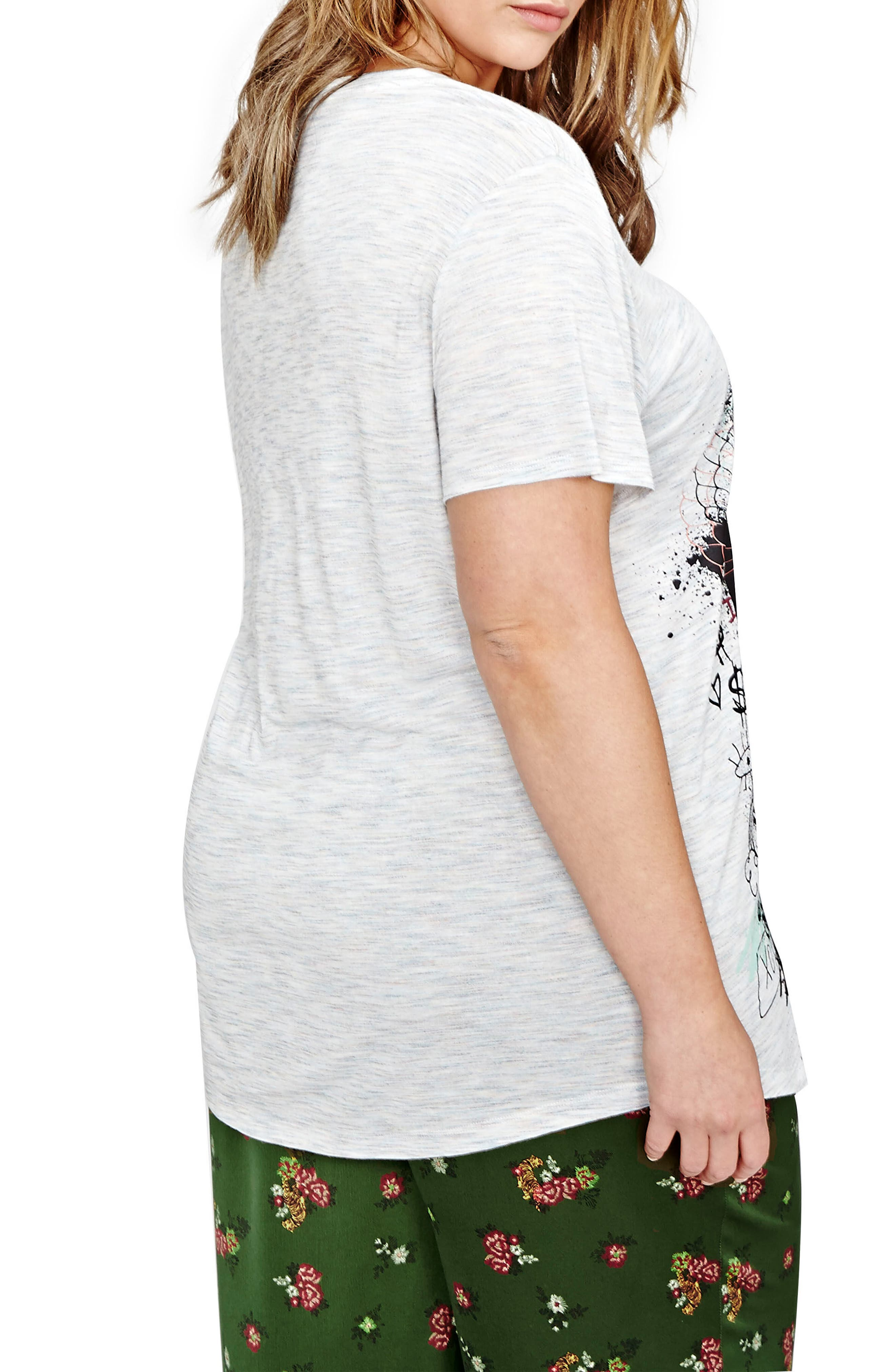 Alternate Image 3  - ADDITION ELLE LOVE AND LEGEND Jordyn Woods Graphic Boyfriend Tee (Plus Size)