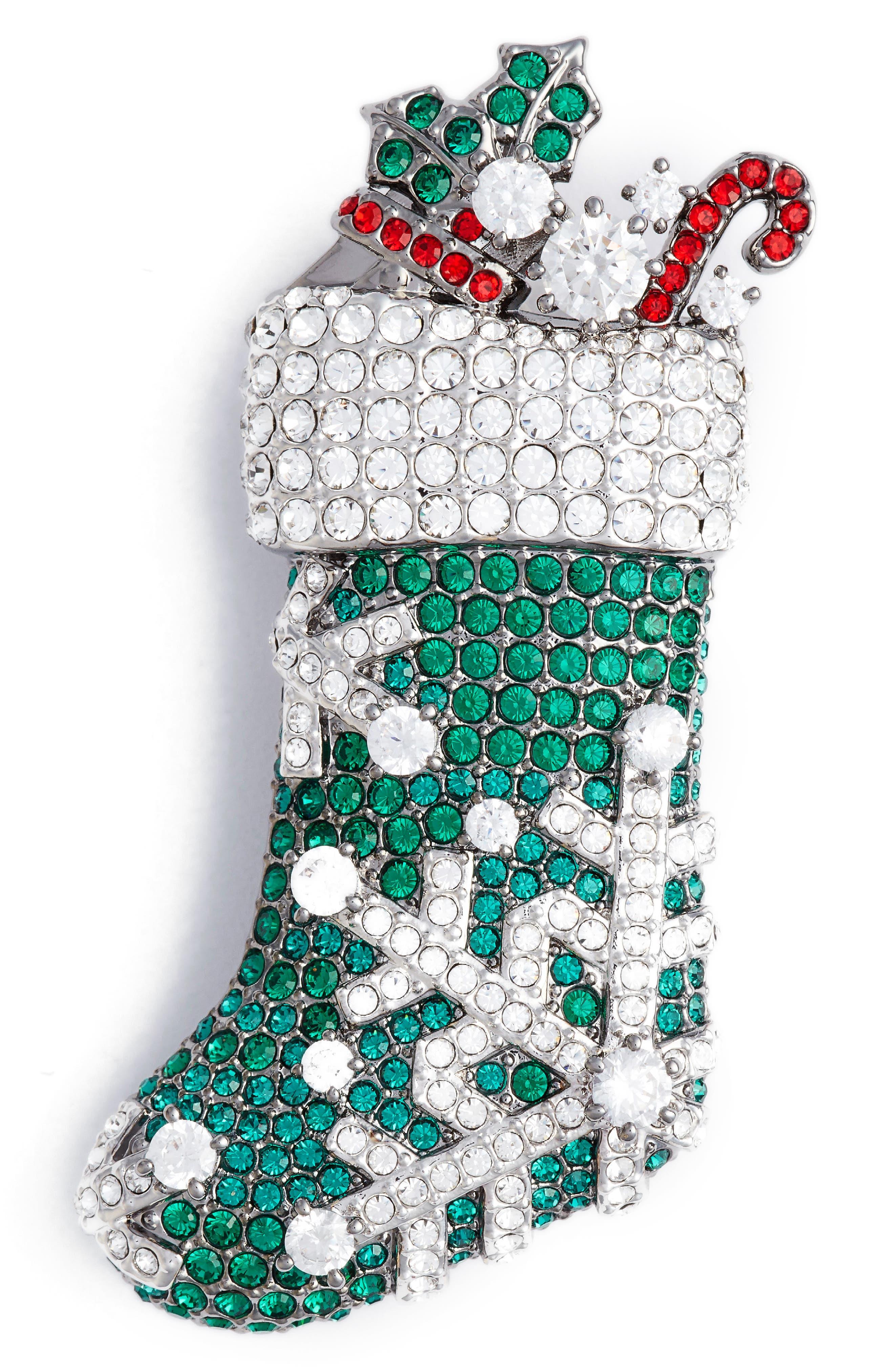 Nadri Jolly Stocking Pin