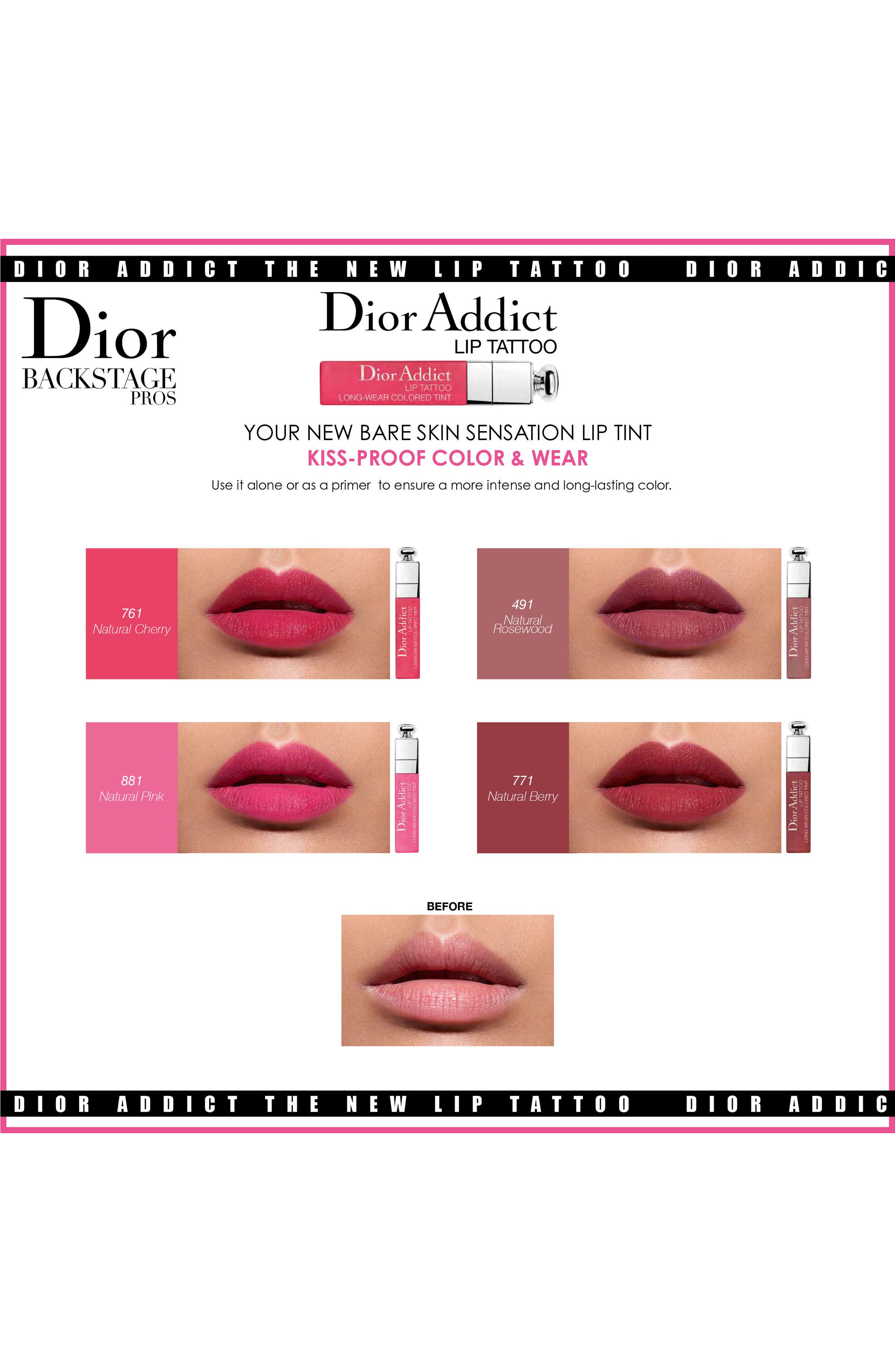 Alternate Image 3  - Dior Addict Lip Tattoo Long-Wearing Color Tint
