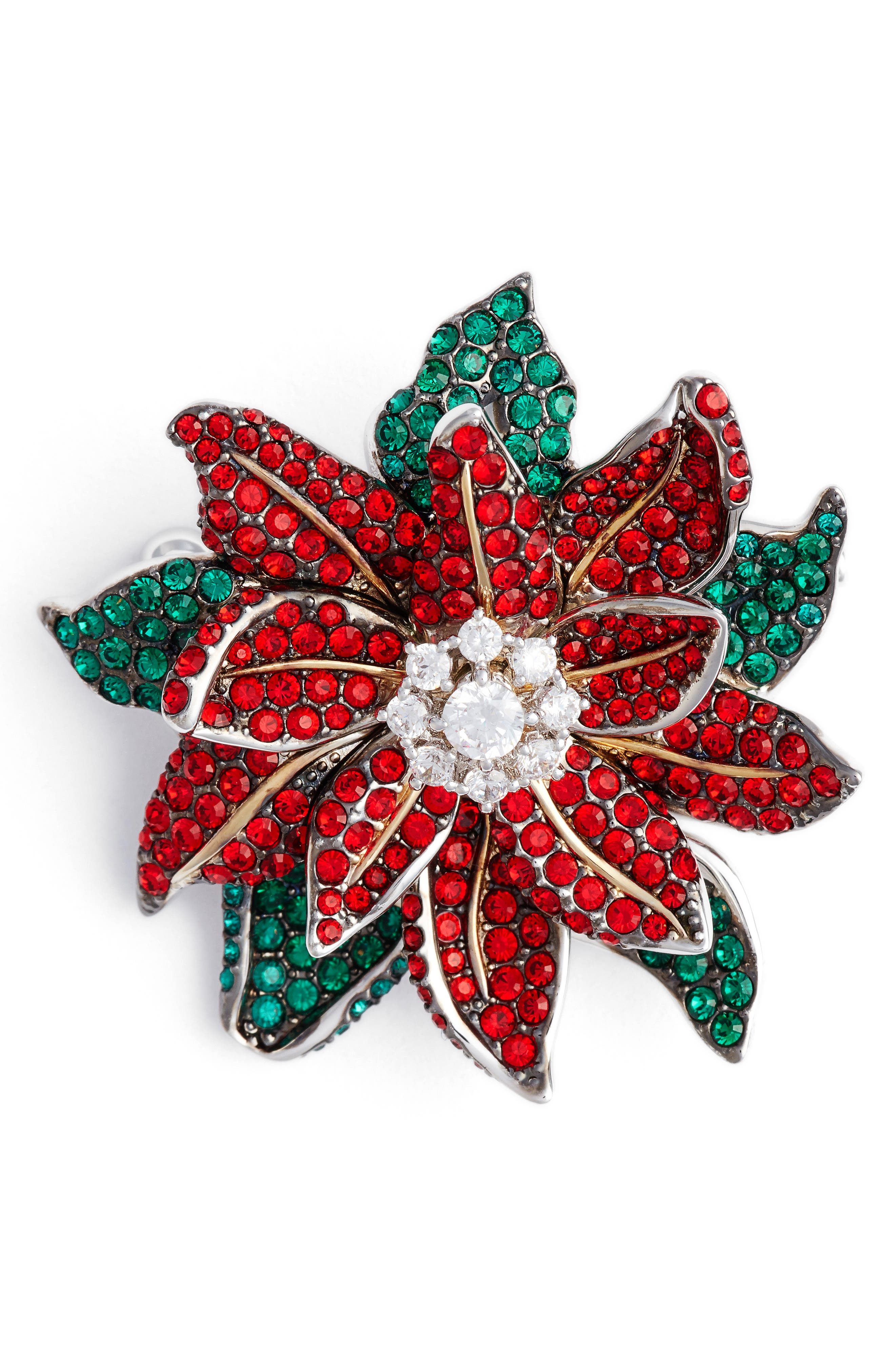 Alternate Image 1 Selected - Nadri Jolly Poinsettia Pin