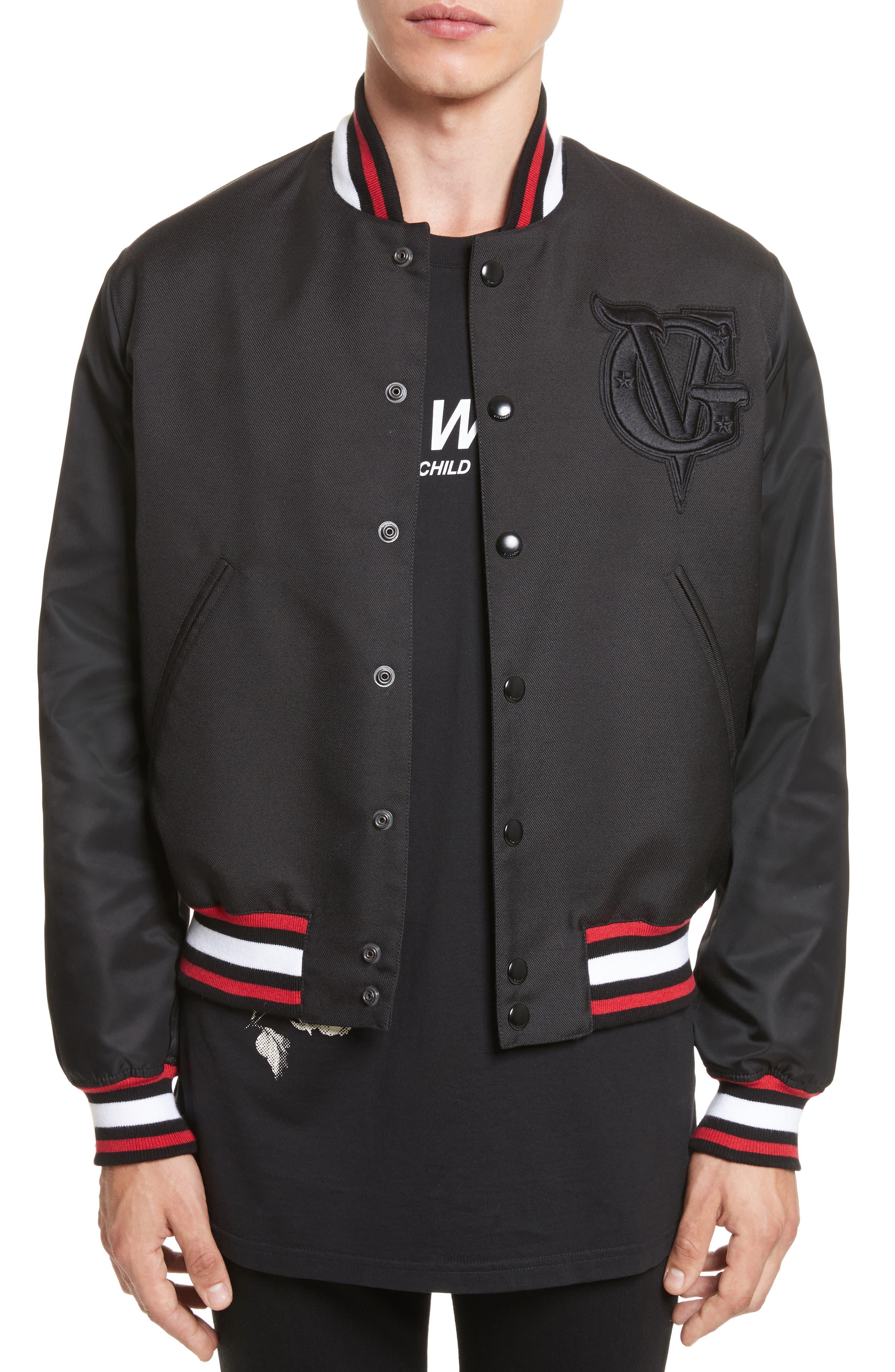 Varsity Jacket,                         Main,                         color, Blue