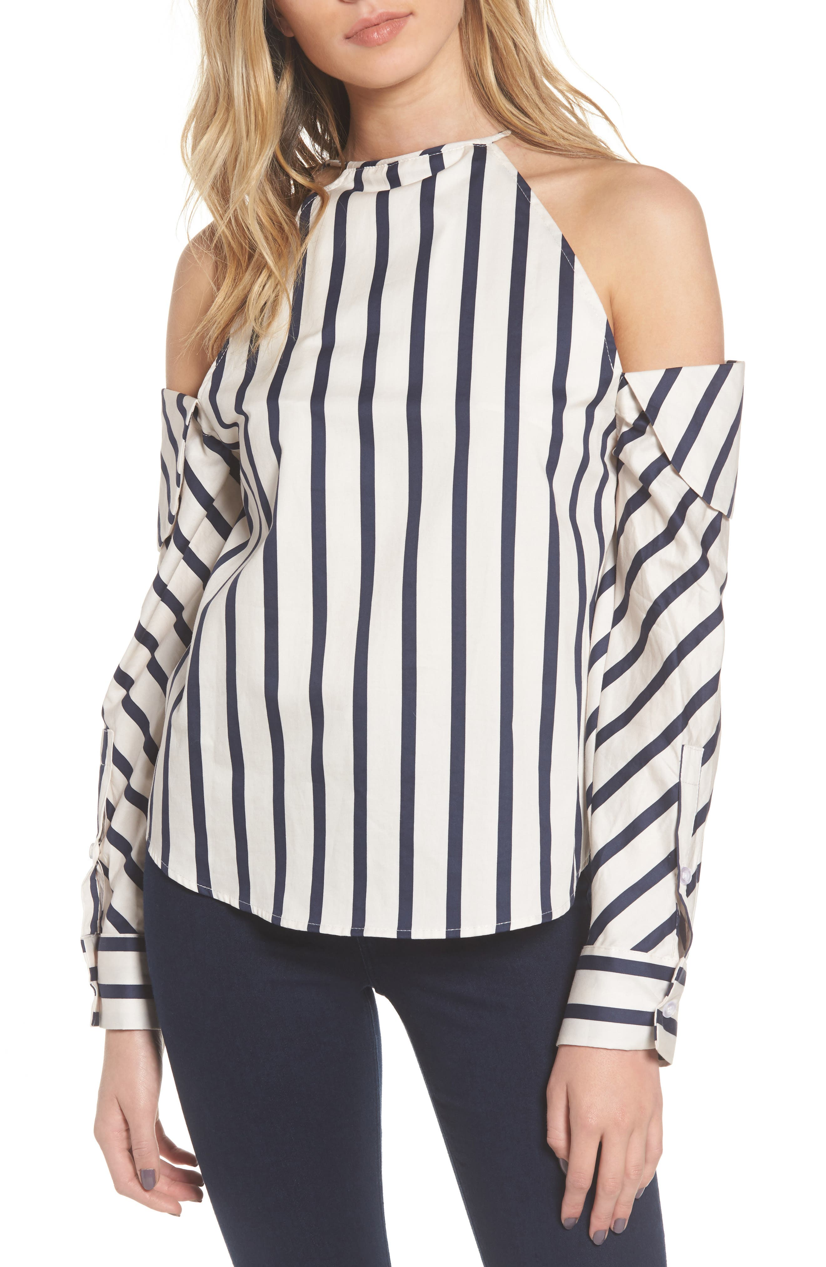 Main Image - StyleKeepers The Can't Be Tamed Cold Shoulder Top