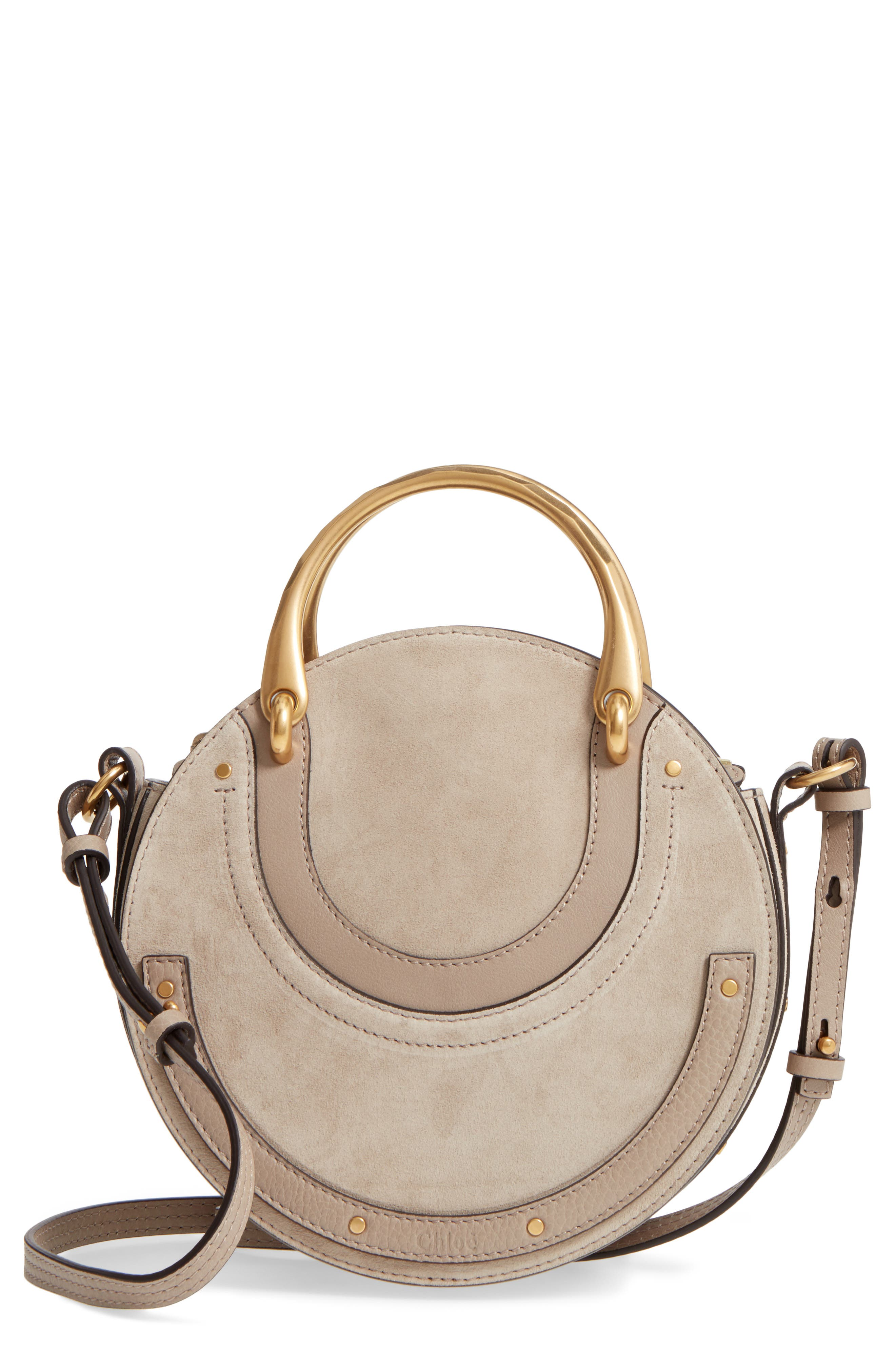 Chloé Small Pixie Top Handle Suede Satchel