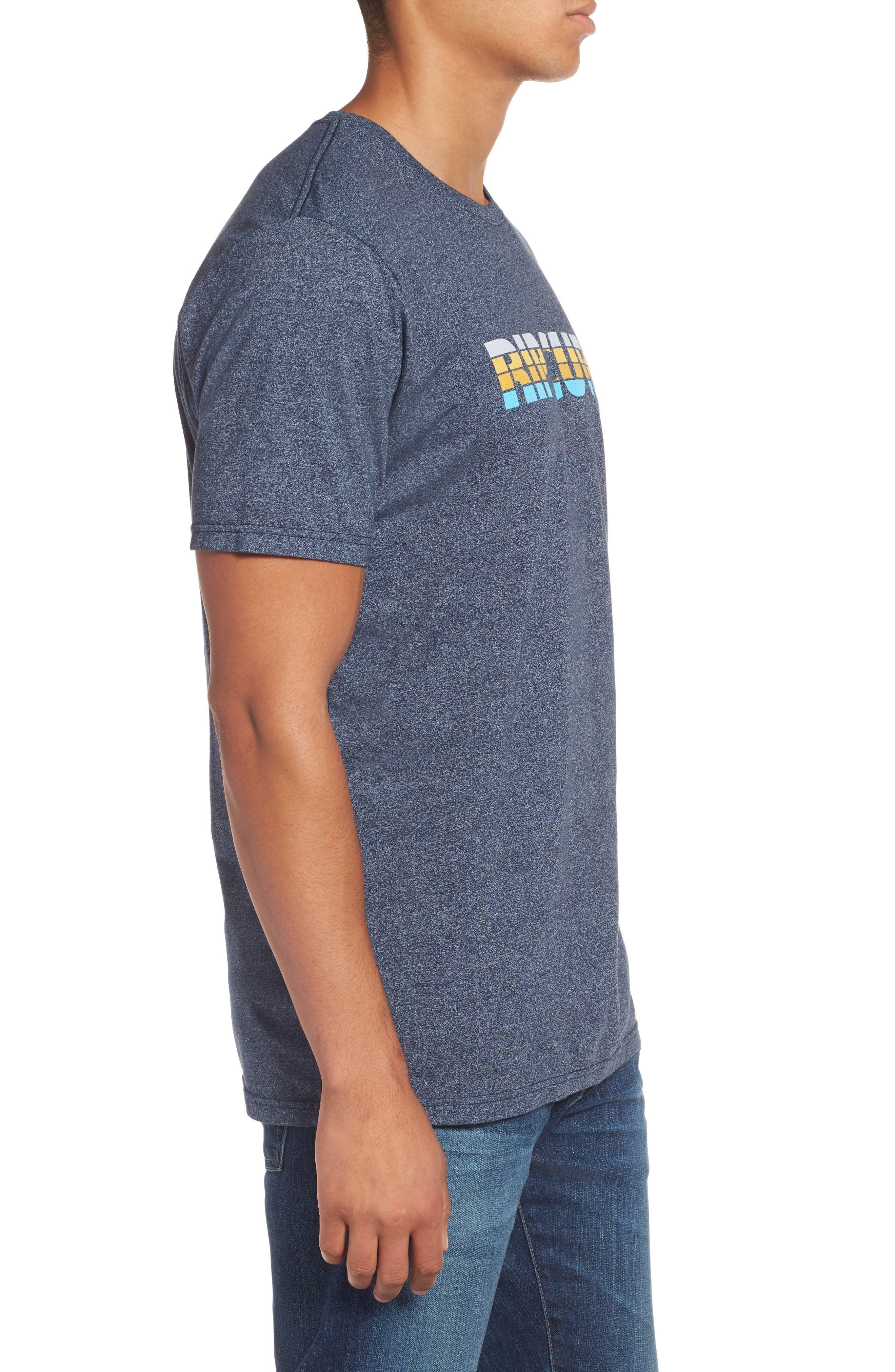 Pumped Mock Twist Graphic T-Shirt,                             Alternate thumbnail 3, color,                             Navy