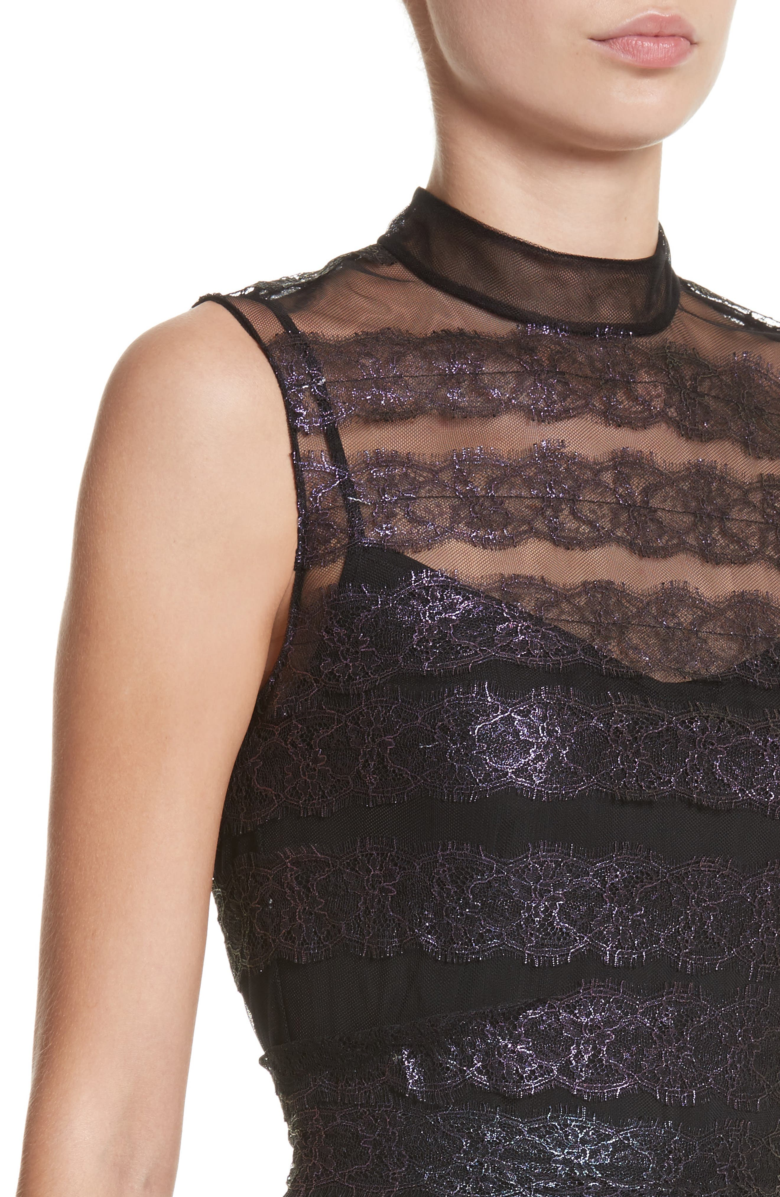 Alternate Image 4  - Christopher Kane Foiled Lace & Tulle Dress