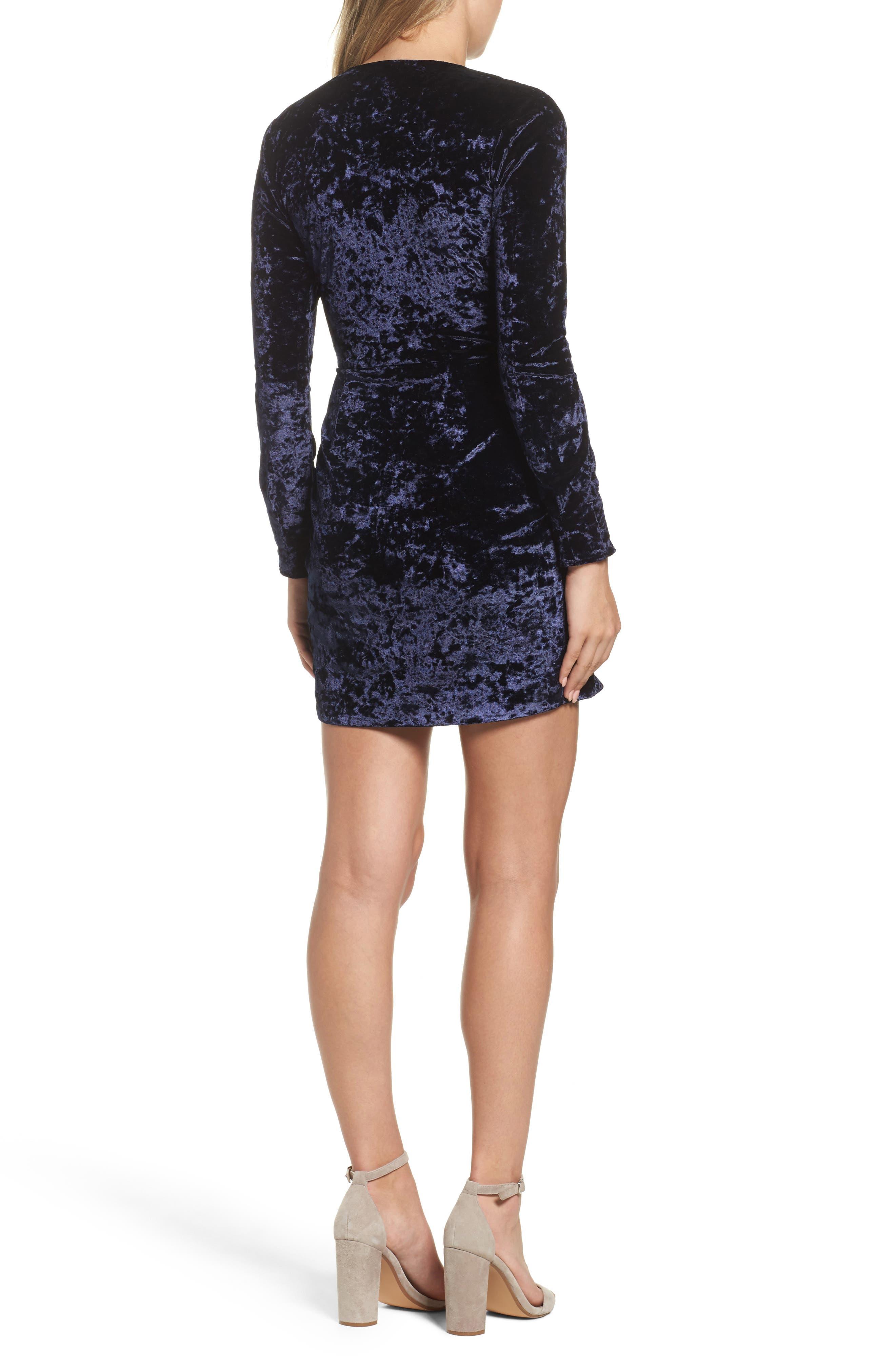 Alternate Image 2  - Greylin Clarissa Velvet Wrap Minidress