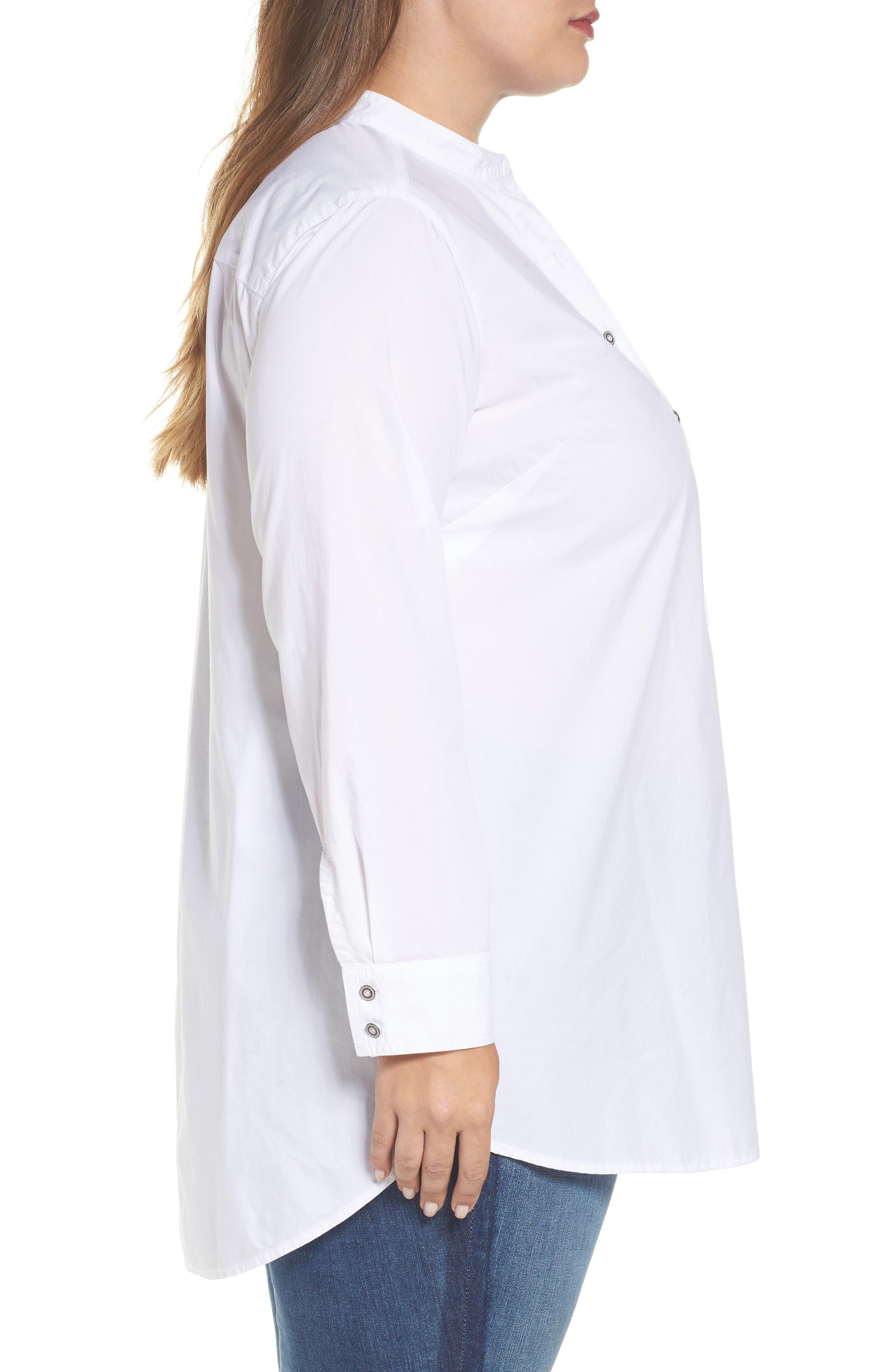 Alternate Image 3  - Caslon® Popover Shirt (Plus Size)