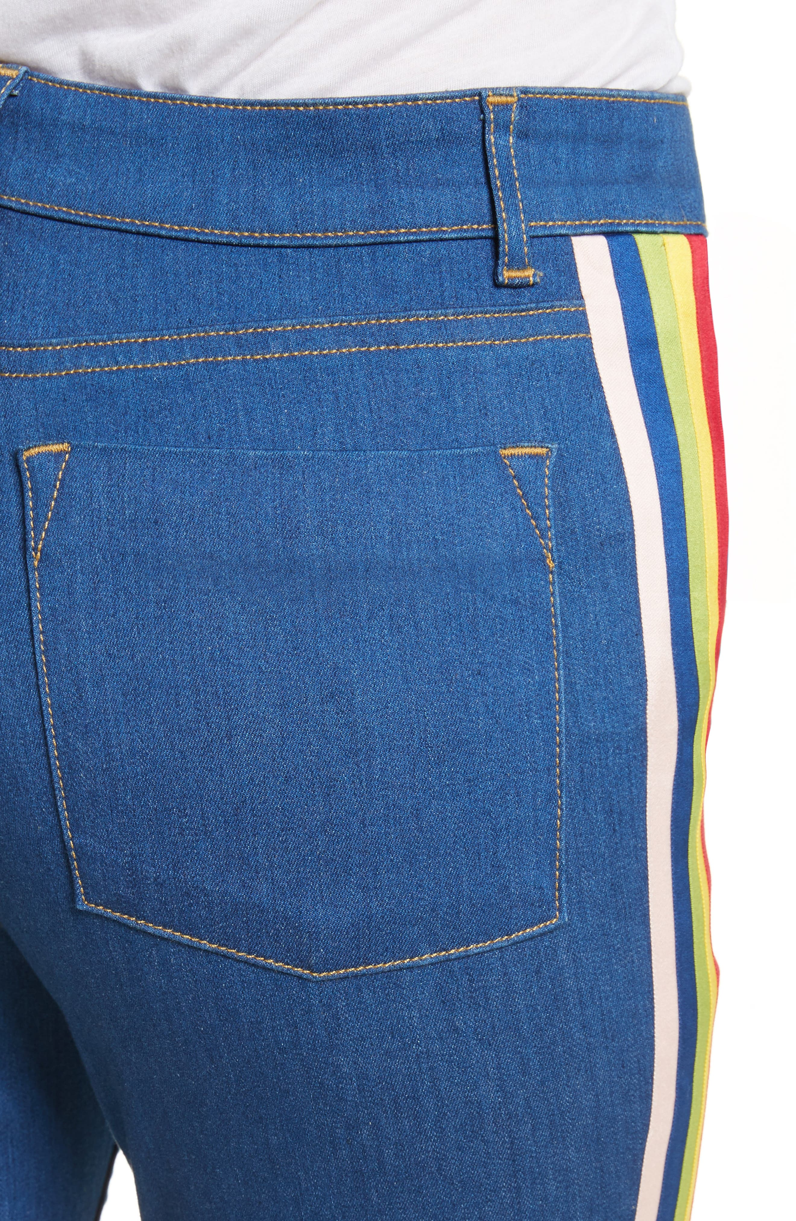 Kayleigh Bell Jeans,                             Alternate thumbnail 4, color,                             French Blue Multi