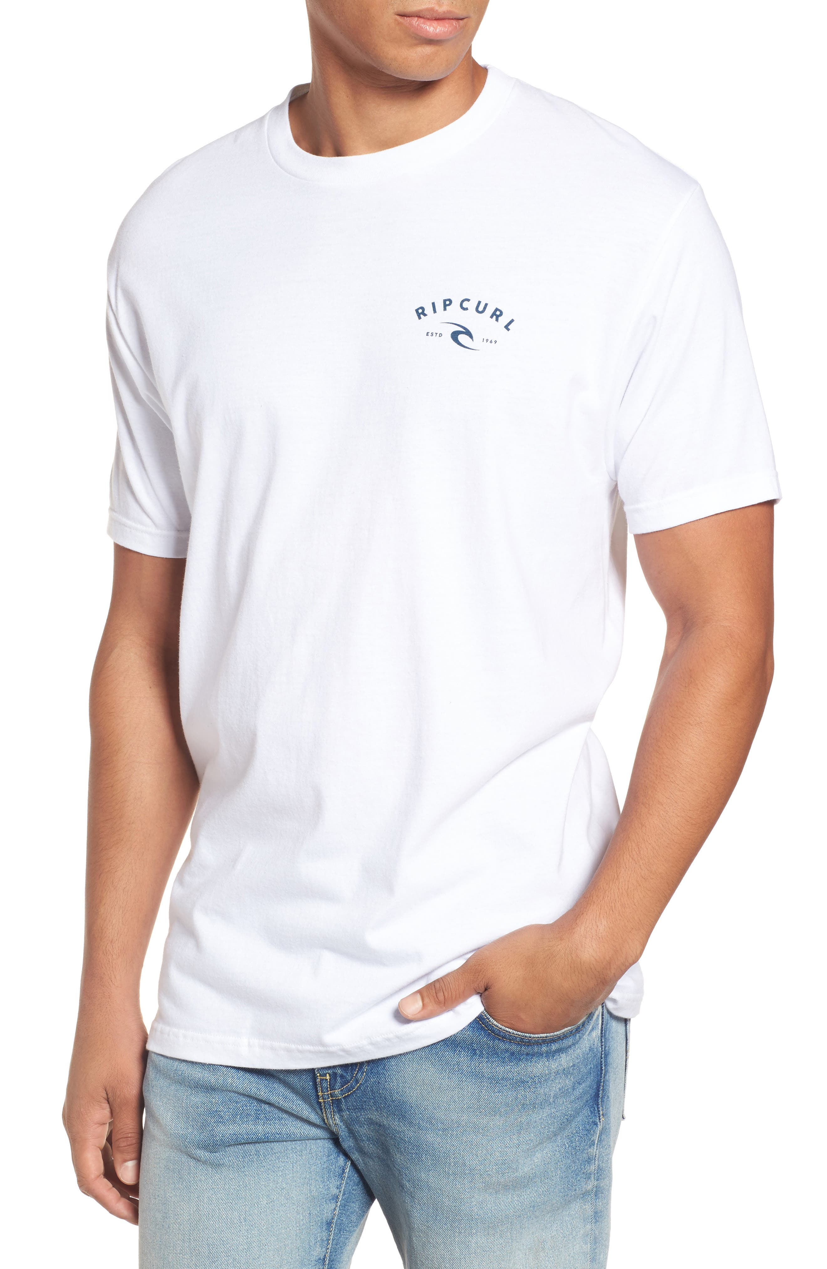 Alternate Image 1 Selected - Rip Curl Down South Heather Logo Graphic T-Shirt
