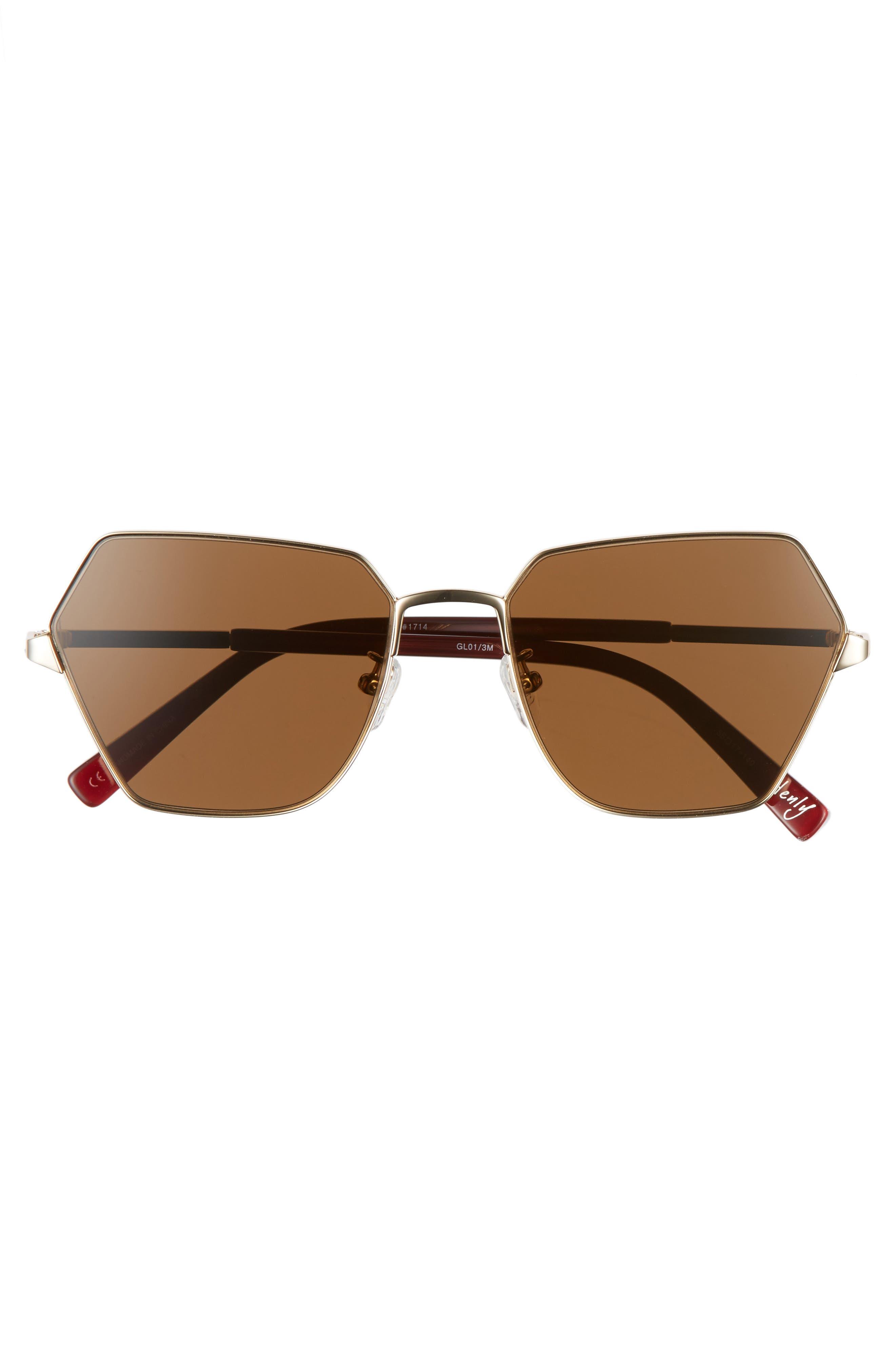 Henly 56mm Sunglasses,                             Alternate thumbnail 3, color,                             Gold