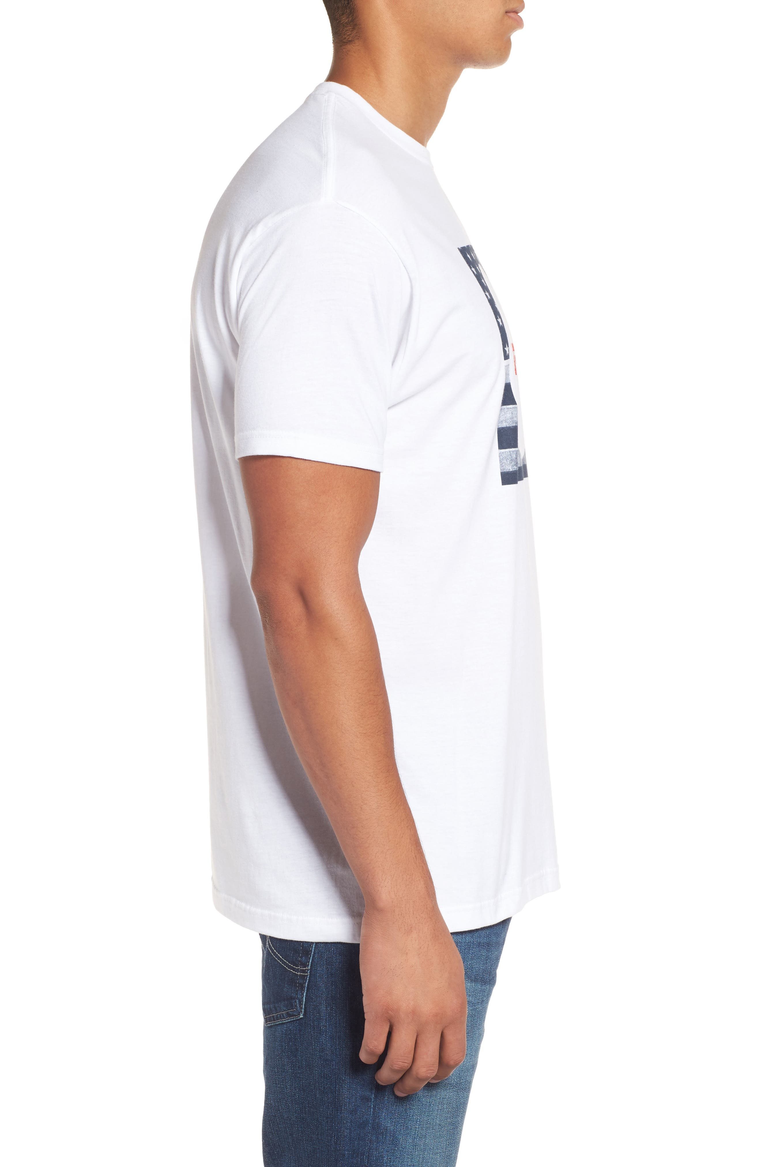 Alternate Image 3  - Rip Curl Born in the USA Logo Graphic T-Shirt