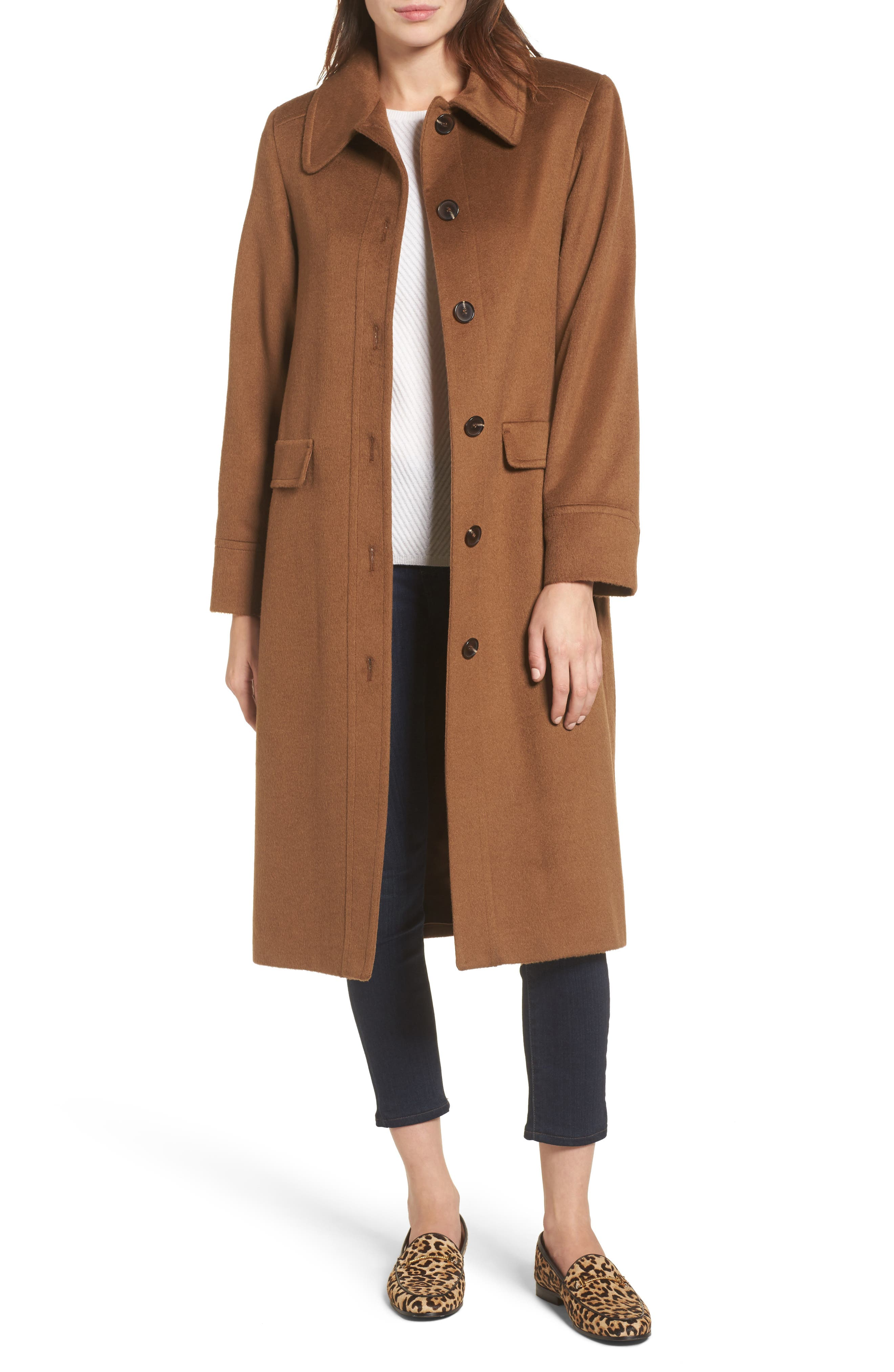 Sofia Cashmere Belted Wool & Cashmere Coat