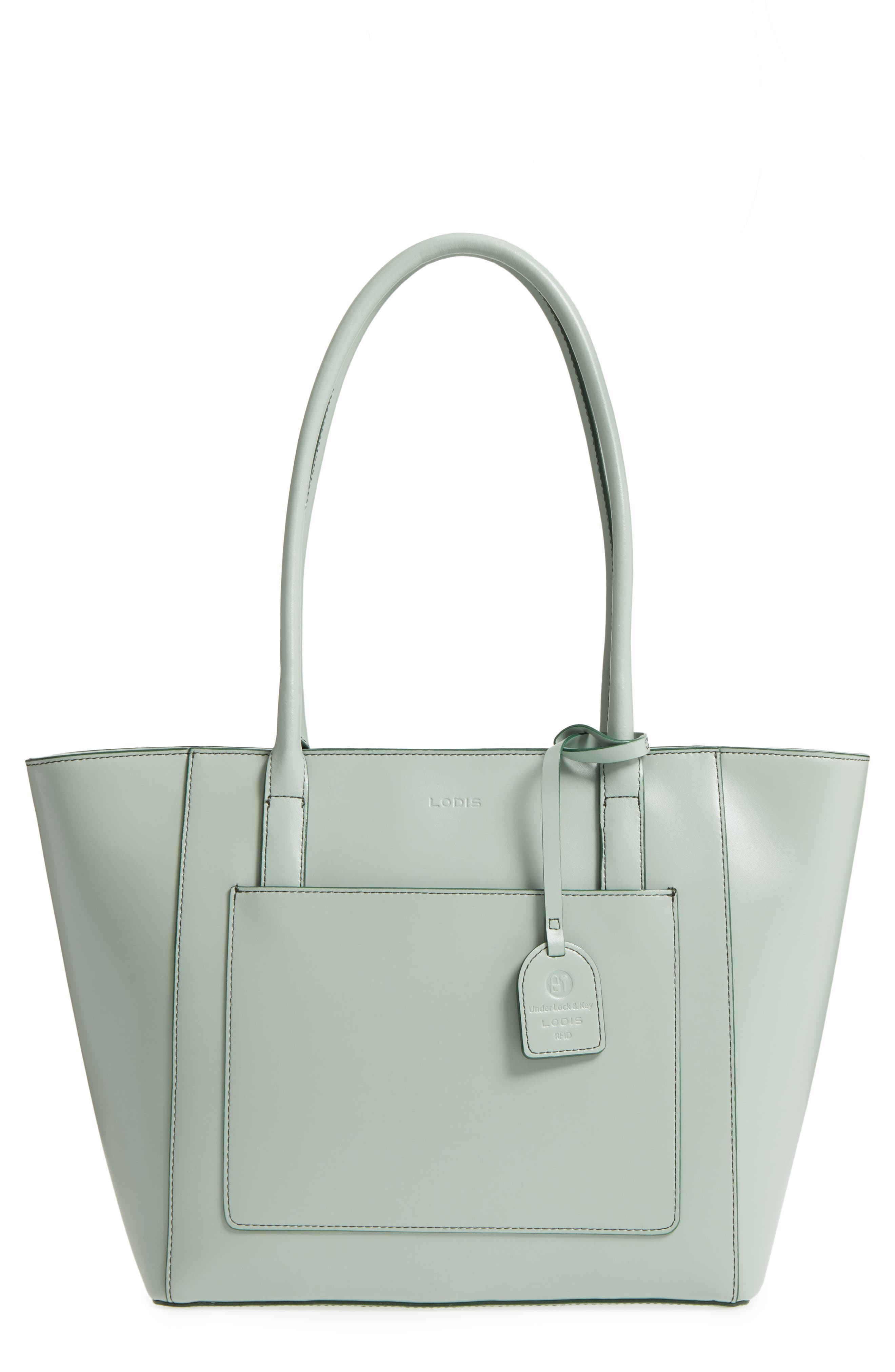 Main Image - Lodis Audrey Under Lock & Key - Medium Margaret RFID Leather Tote with Zip Pouch
