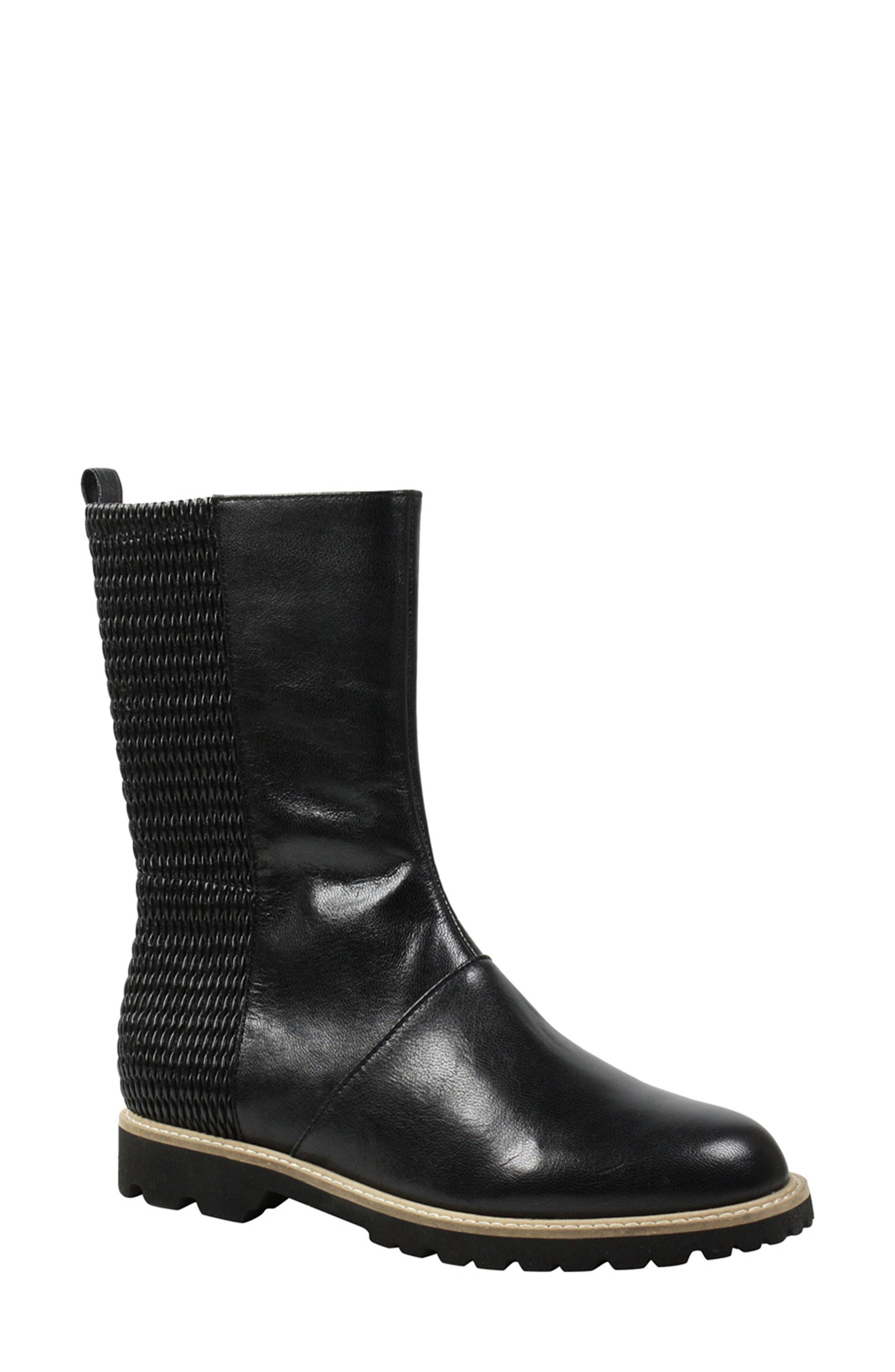 Reyney Boot,                             Main thumbnail 1, color,                             Black Leather