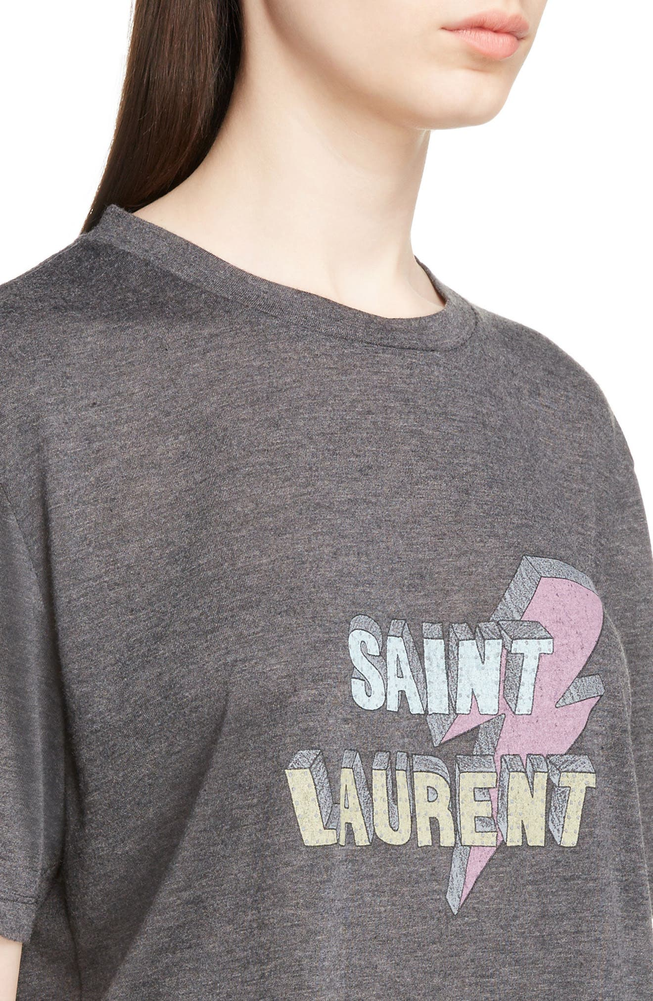 Alternate Image 4  - Saint Laurent Lightning Logo Tee