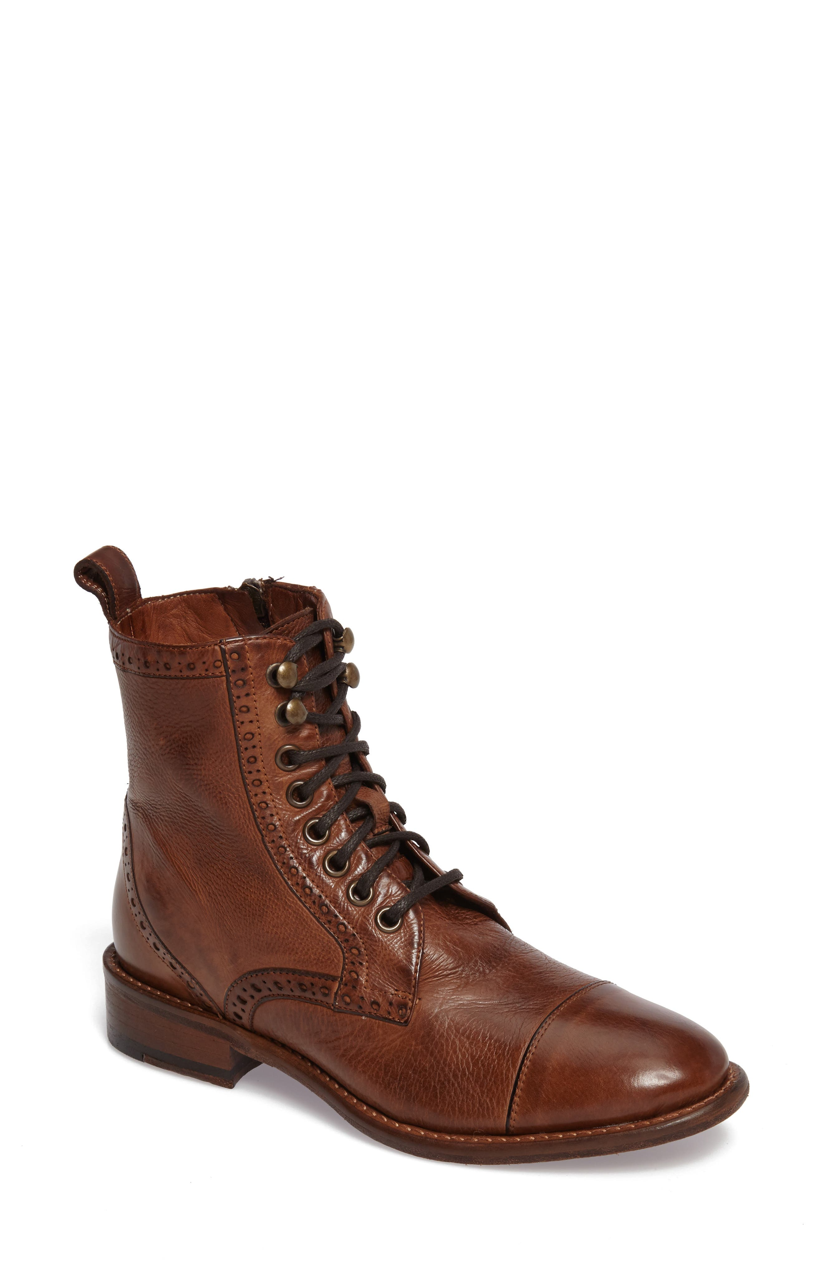 Natalie Boot,                         Main,                         color, Mahogany Leather